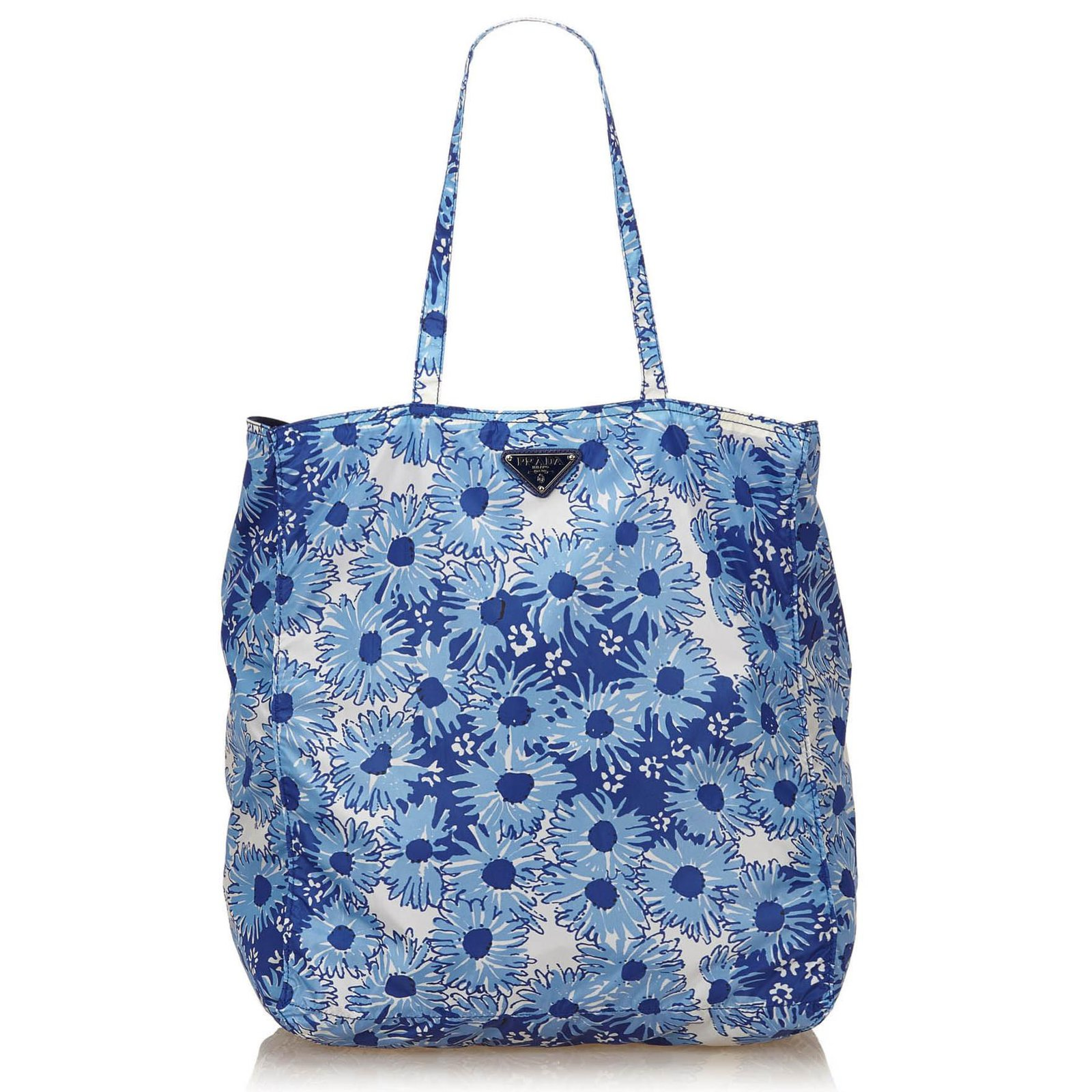 7be067268fe6 ... best prada floral nylon tote bag totes nyloncloth whitebluelight blue  ref 10903 dbe1a