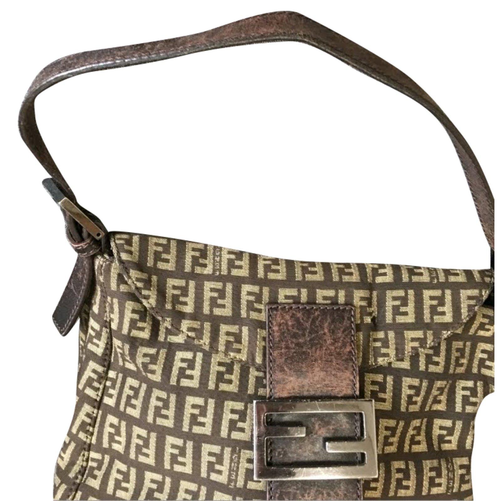 3790bfc699ee ... promo code fendi mama zucca bag handbags leathercotton brown ref.82530  47e10 2b290