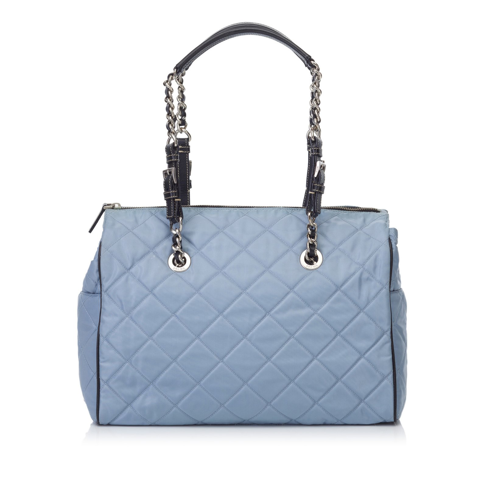 9bdbb118cfd2 ... sale prada quilted nylon shoulder bag handbags leatherothernyloncloth  blue light e03a3 74051