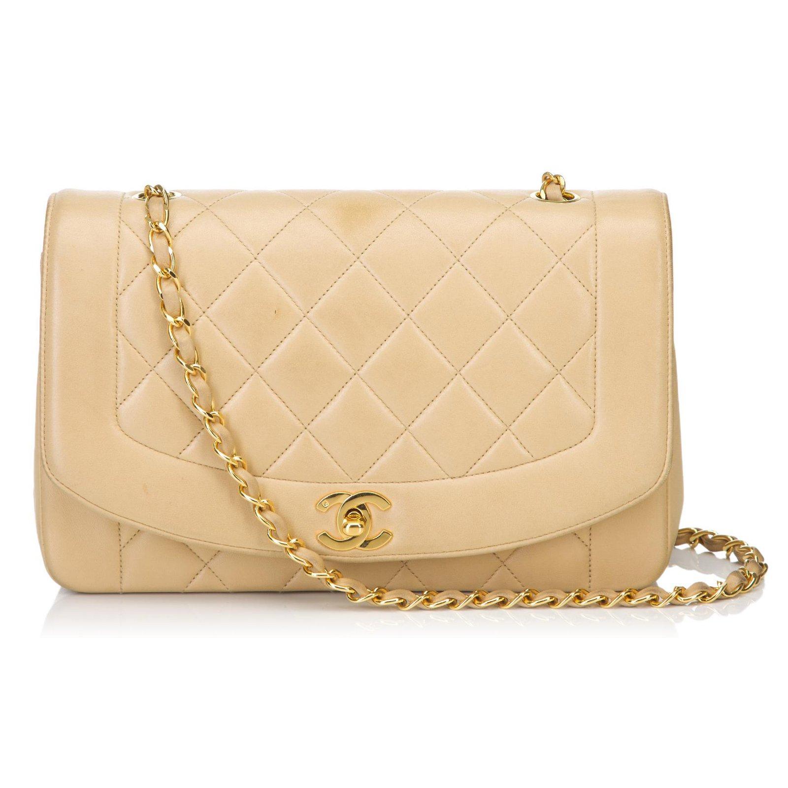 b55739de0b80 Chanel Diana Flap Shoulder Bag Handbags Leather Brown