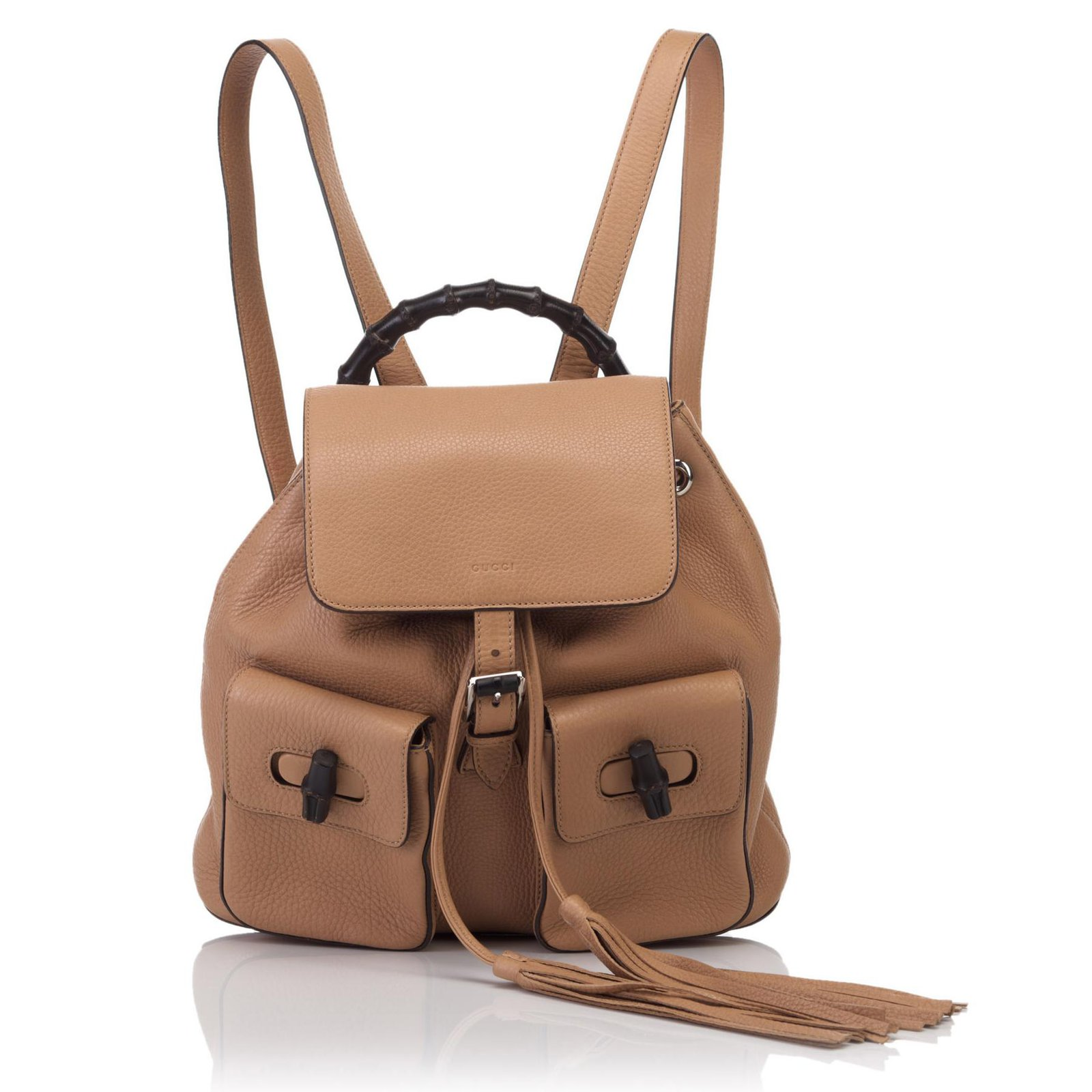65781612b36 Gucci Leather Bamboo Backpack Backpacks Leather