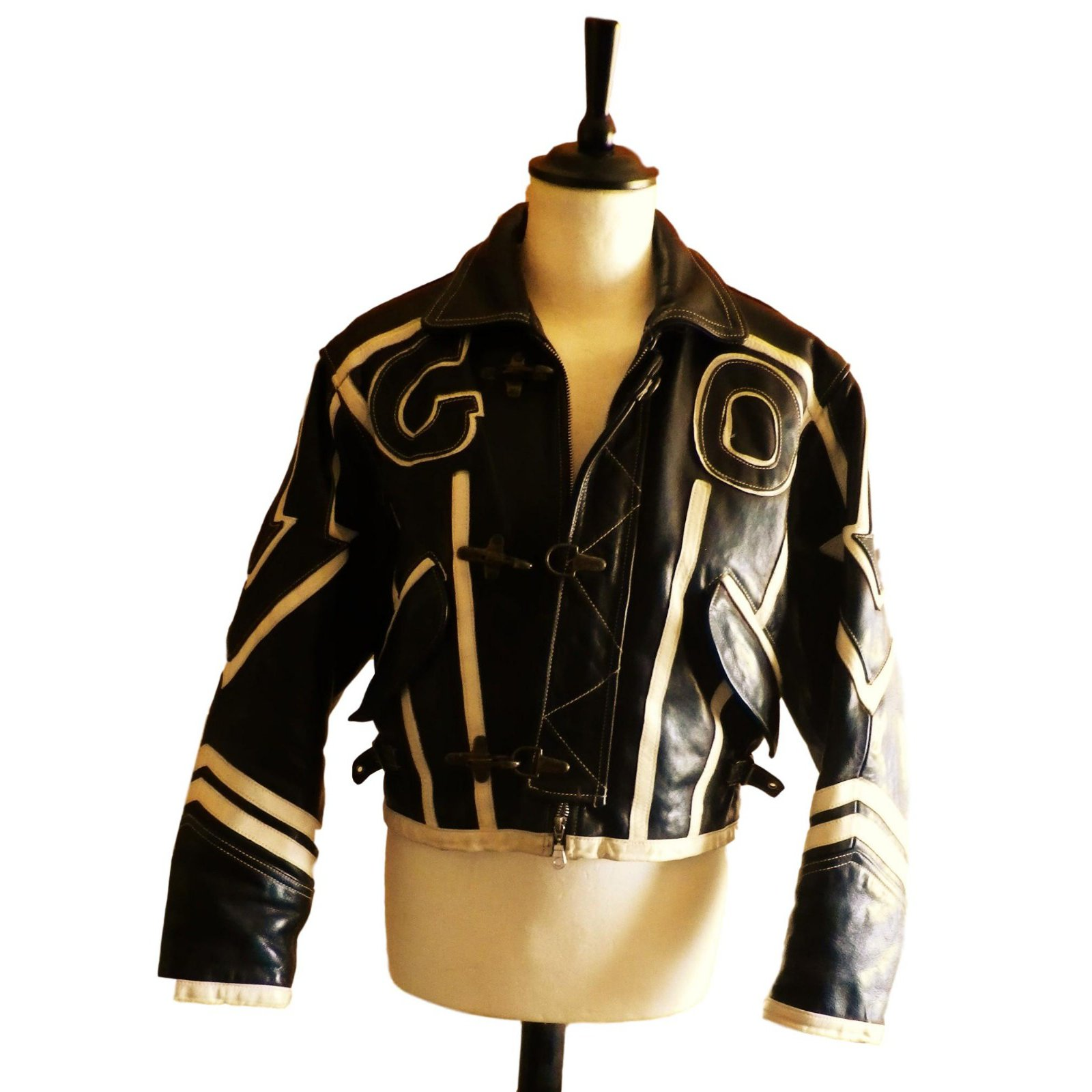 84a1f85c156b Vestes, blousons Giorgio blouson de moto Cuir Noir ref.83106 - Joli ...