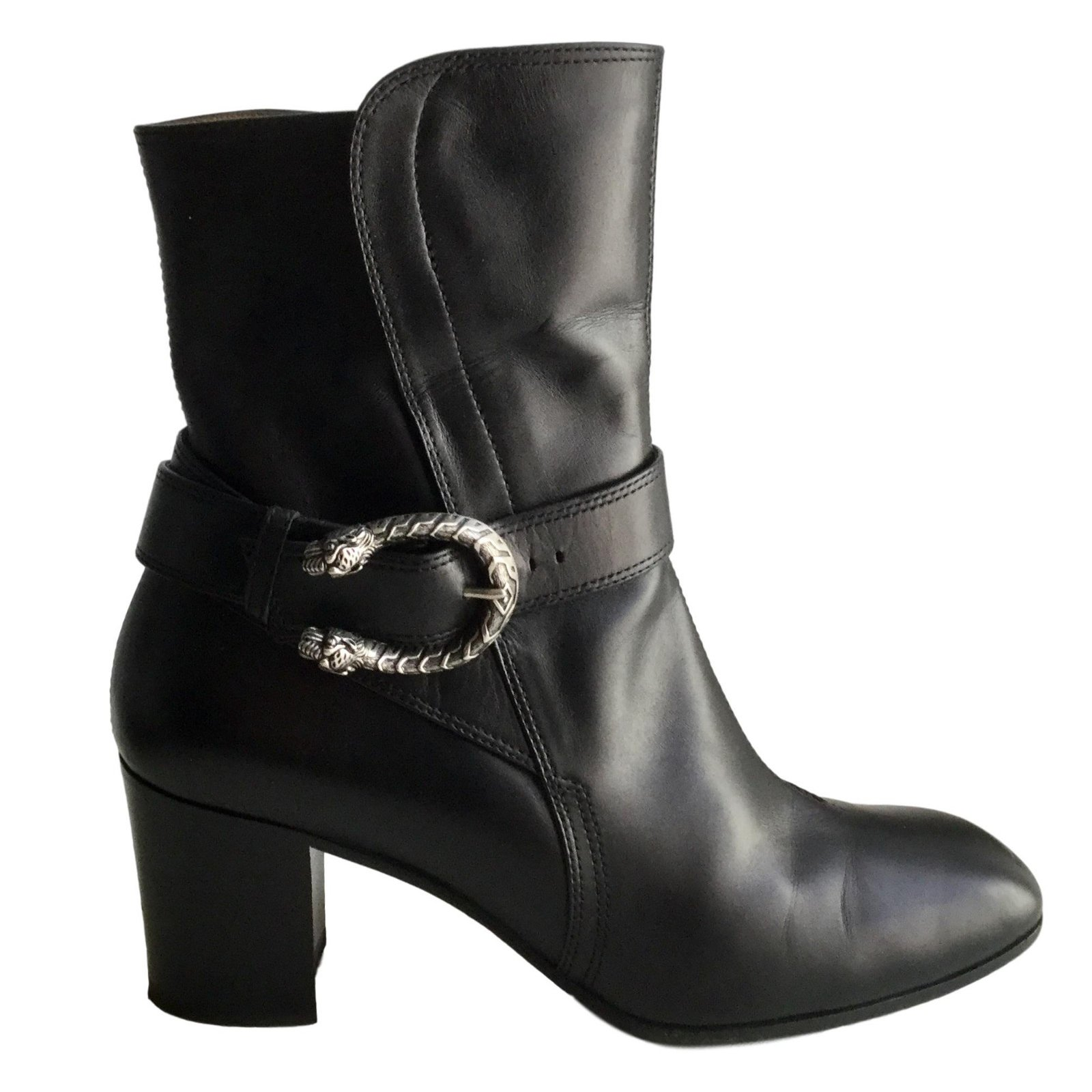 f3453c48333 Gucci Ankle boots Ankle Boots Leather Black ref.83282 - Joli Closet