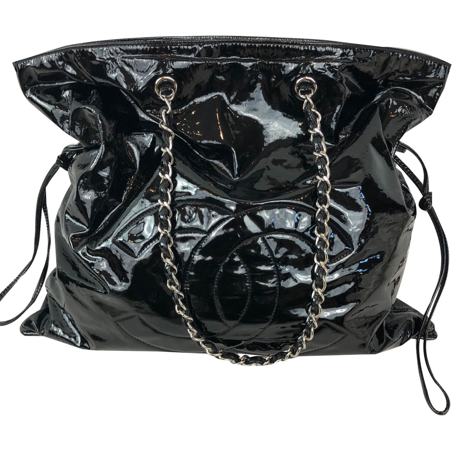 57d6ee3df3 Sacs à main Chanel Grand shopping Cuir vernis Noir ref.83317 - Joli ...