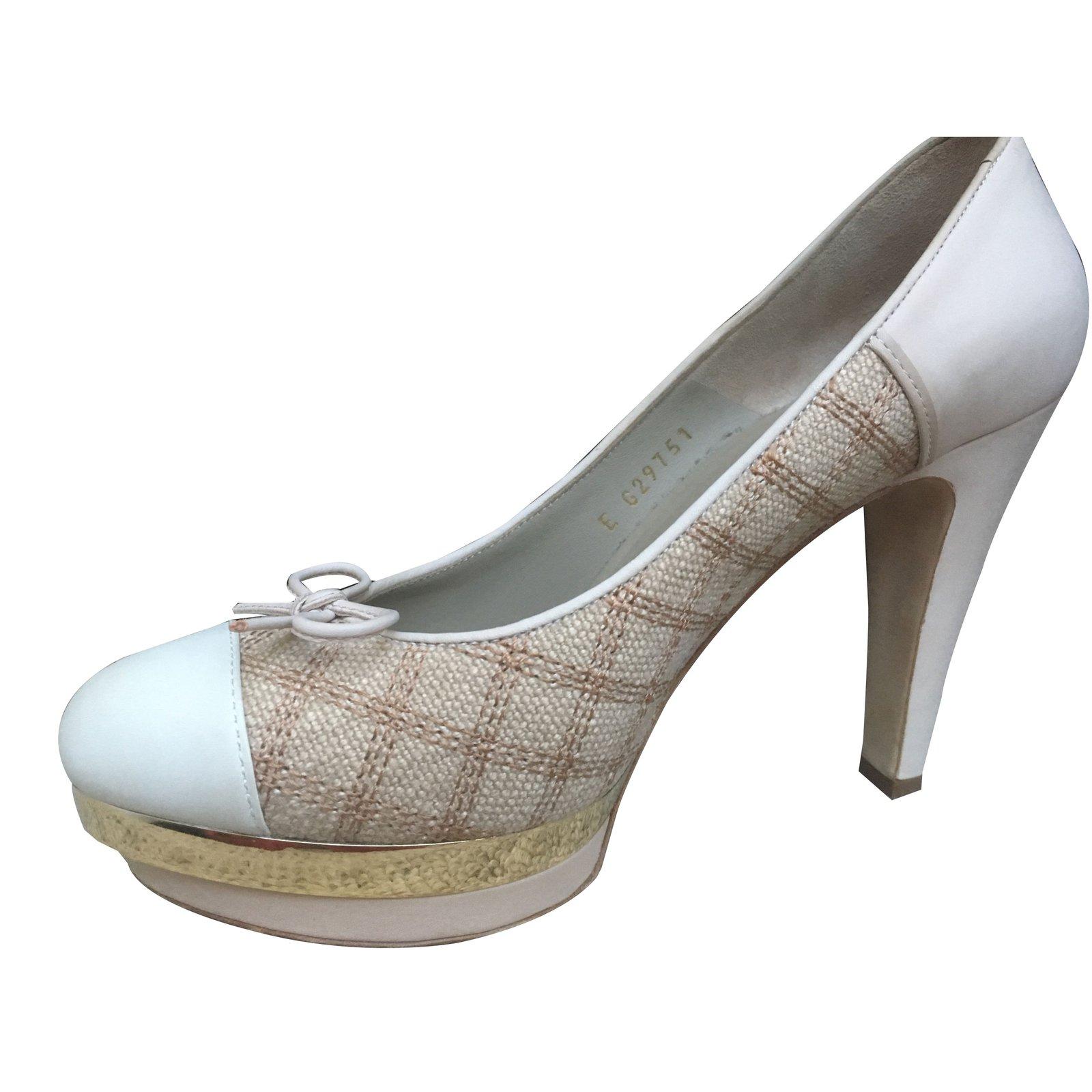 chanel platform heels