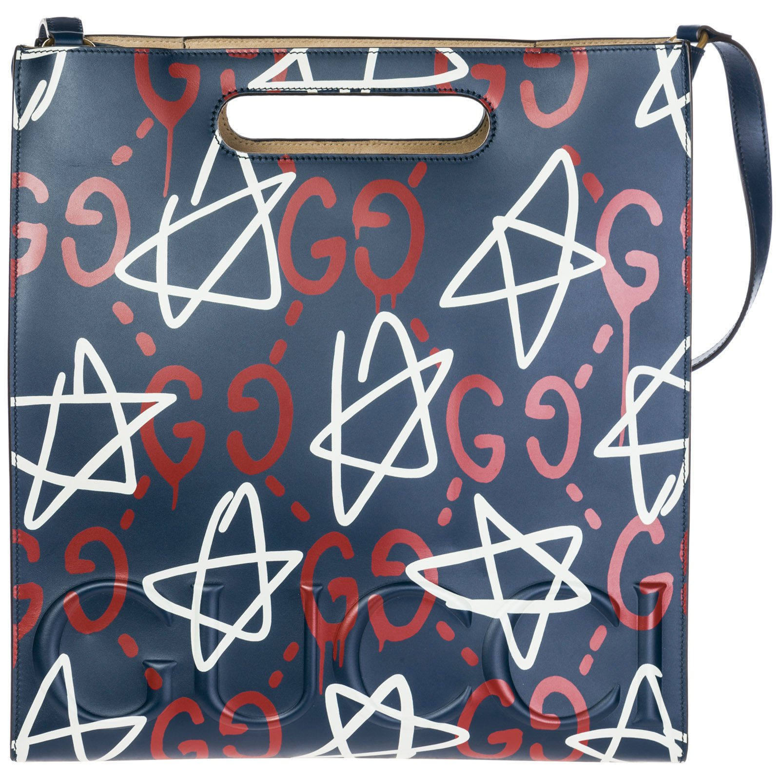 3cc16d90f0811a Gucci Gucci ghost tote leather new Handbags Leather Blue ref.83587 ...