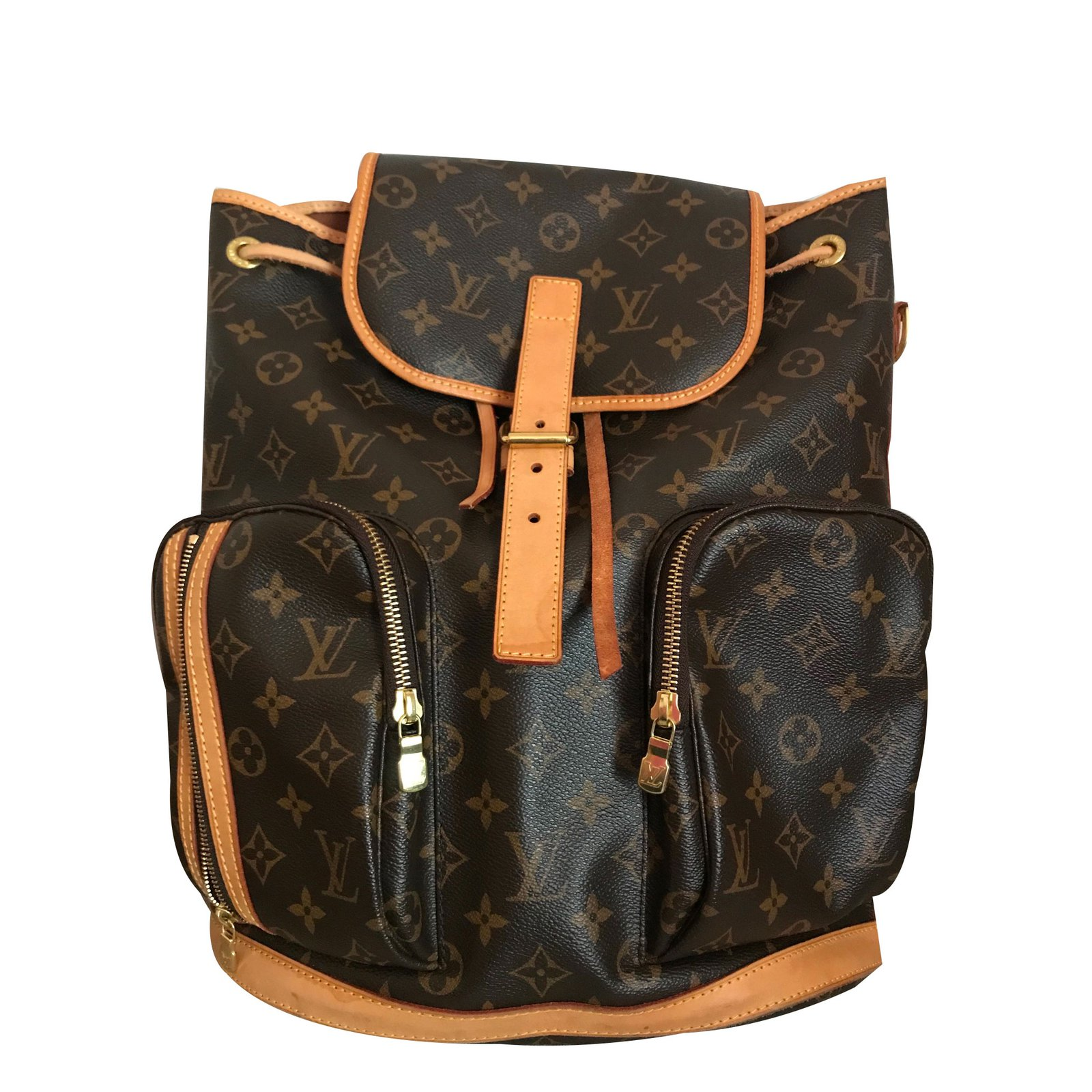 b18fb7a8bd70 Louis Vuitton Bosphore monogram Backpack Backpacks Leather