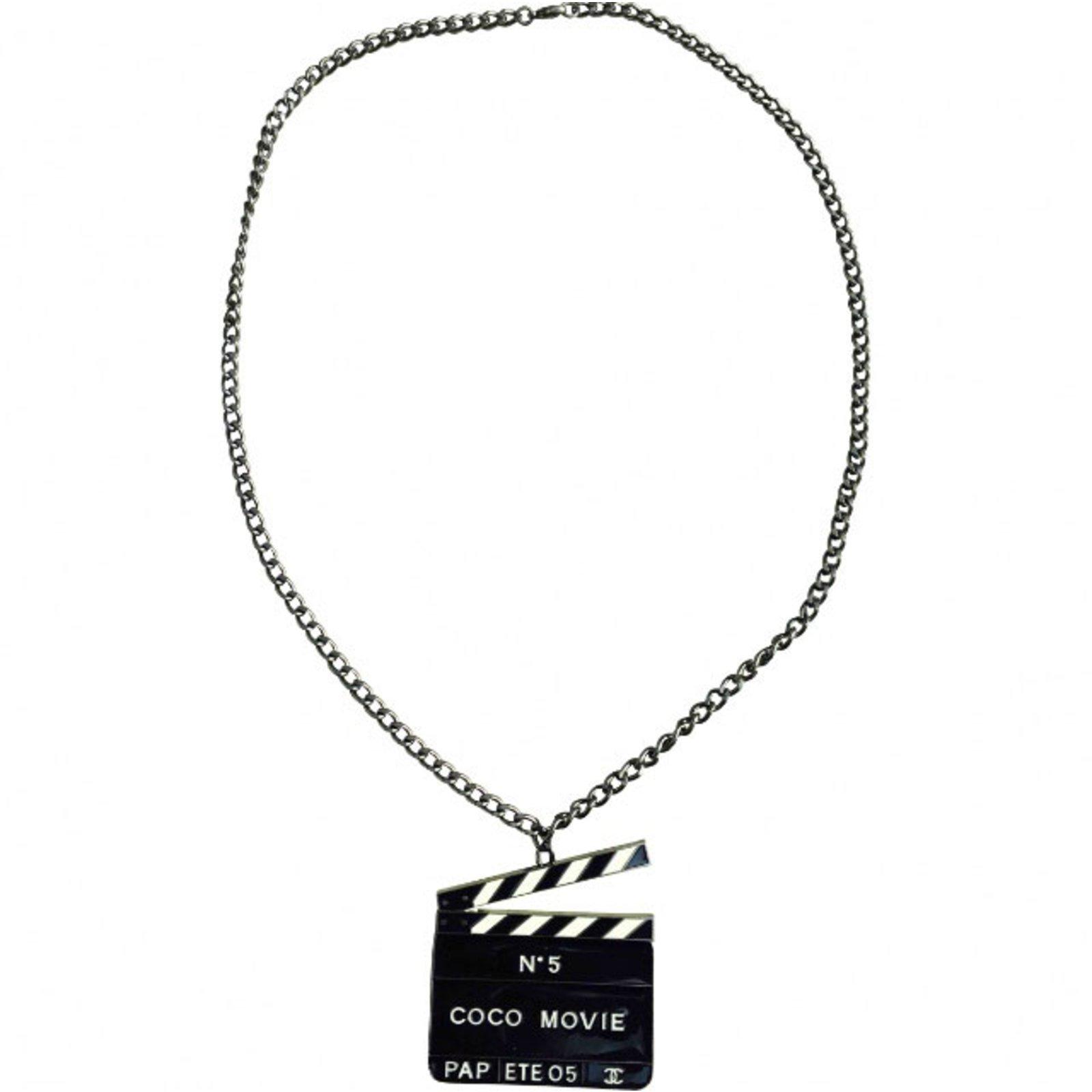 8d25f5fbbb8c62 Chanel necklace Long necklaces Steel Silvery,Grey ref.84027 - Joli ...