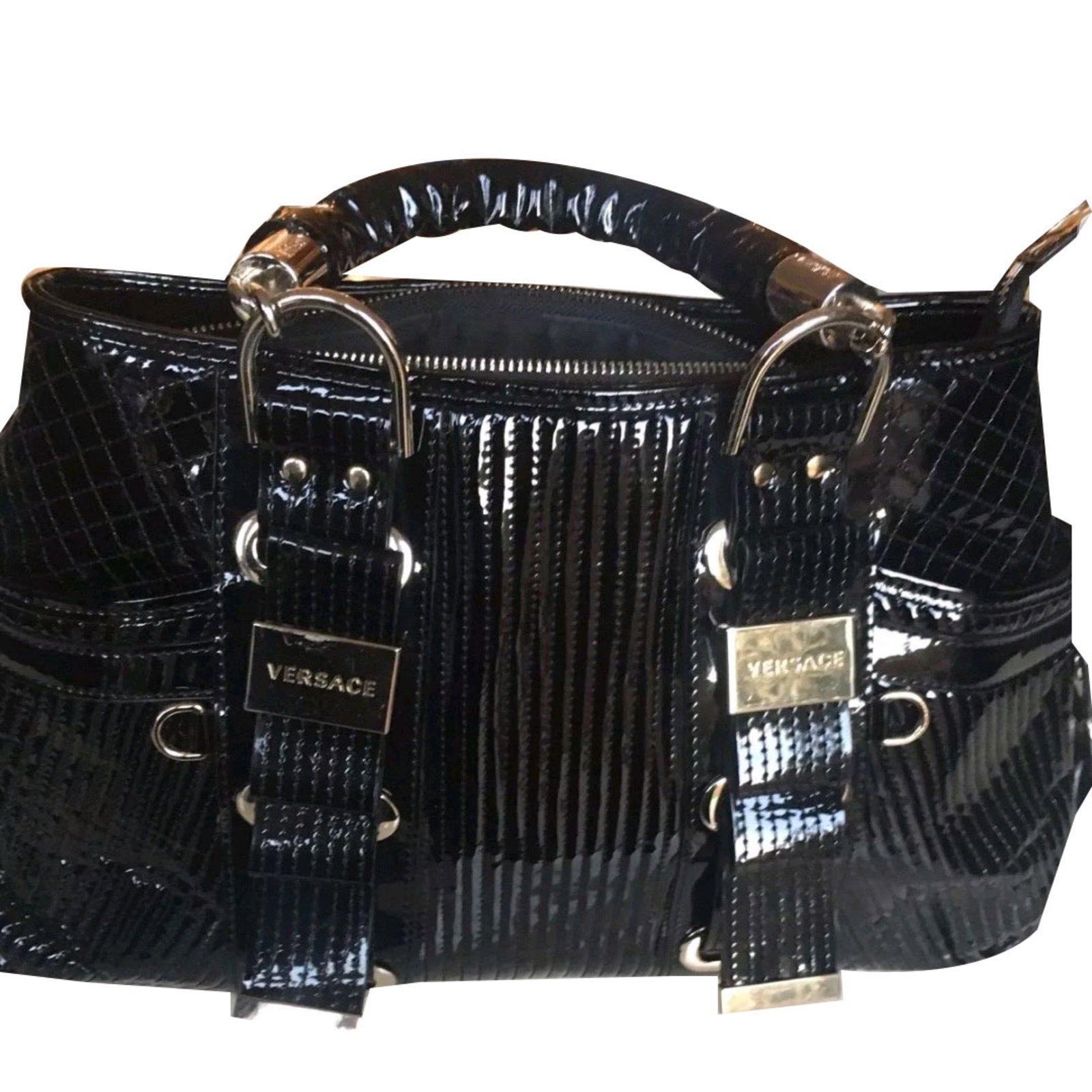 be140c7fb1 Gianni Versace Handbag Handbags Patent leather Black