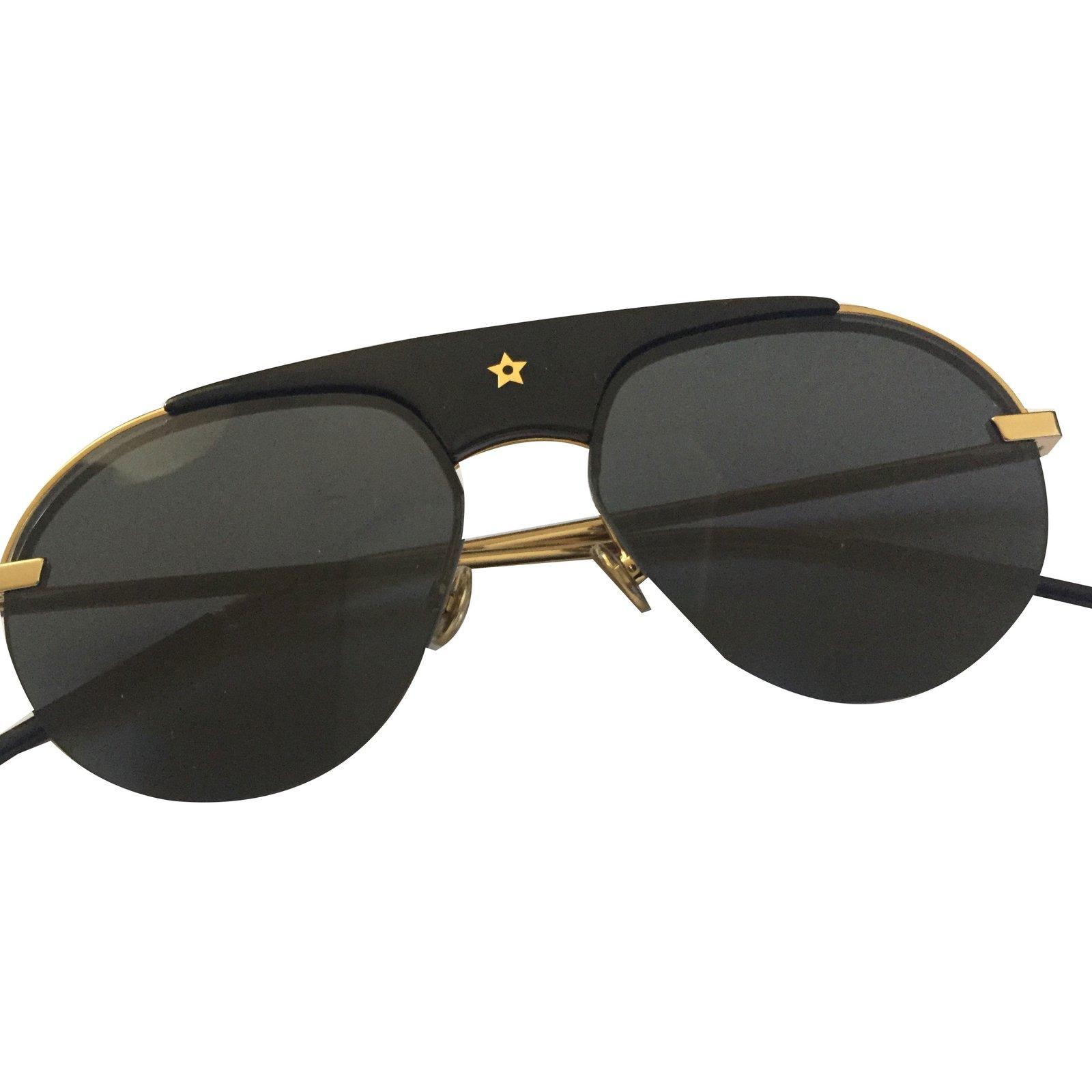 Lunettes Christian Dior Lunettes de soleil Métal Noir ref.84463 ... e23b5710d3f9