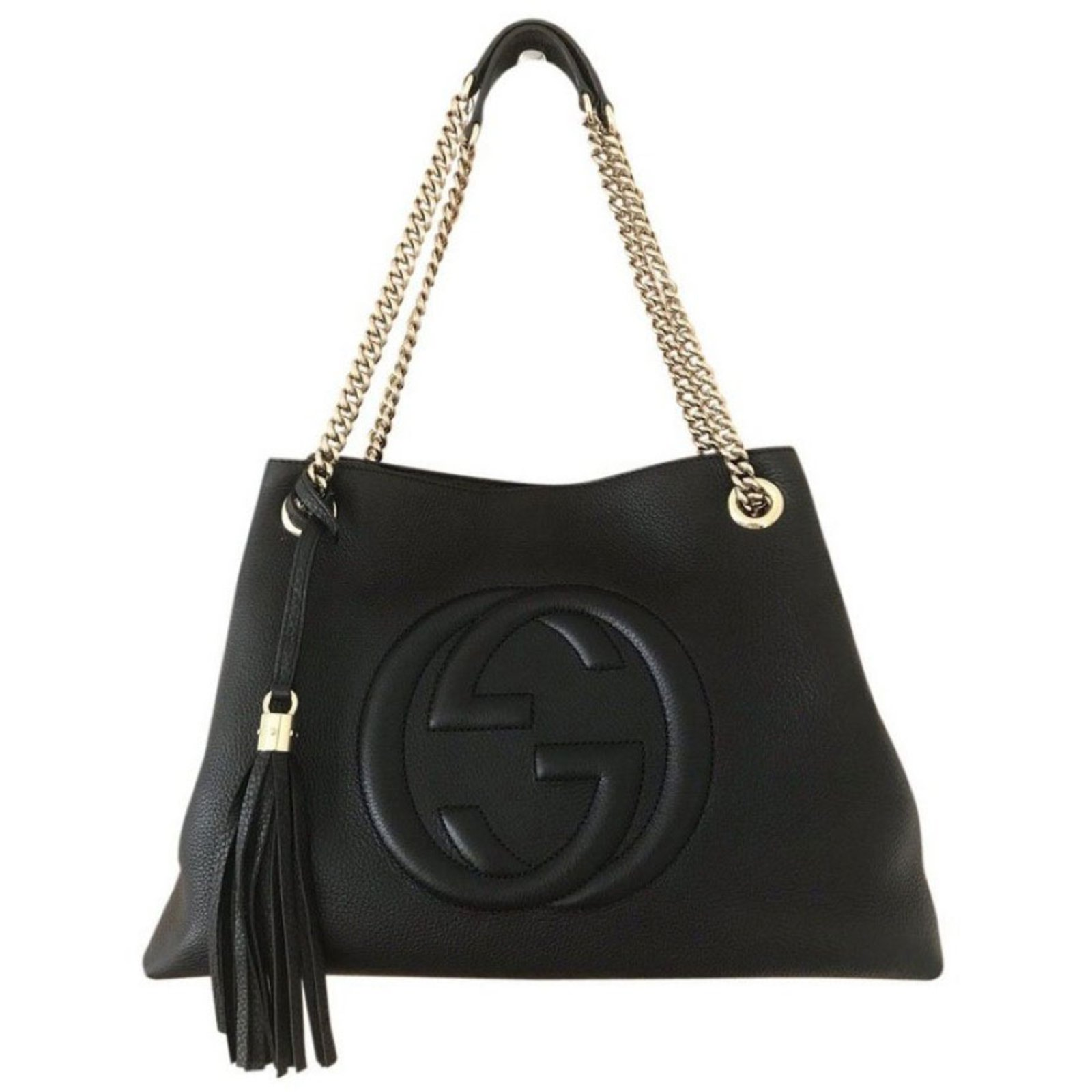 Gucci Soho Handbags Leather Black Ref 84570