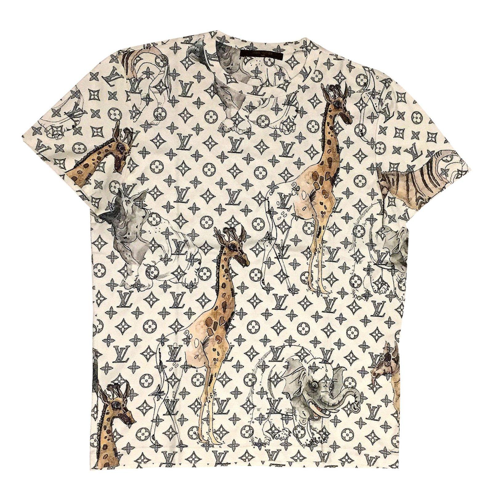 bdfd9dc52dc0 Louis Vuitton Safari Tees Cotton Eggshell ref.84609 - Joli Closet