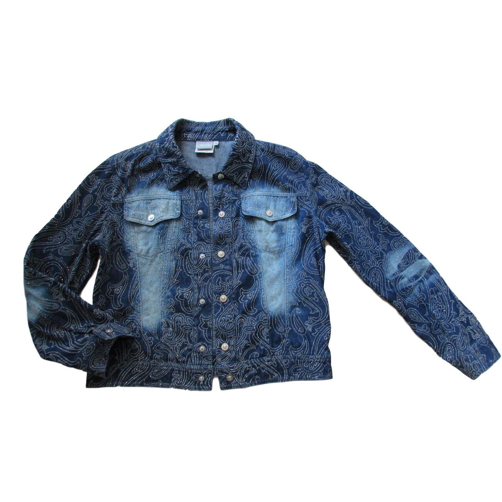 Vestes Versace Vestes Jean Bleu Ref 84650 Joli Closet