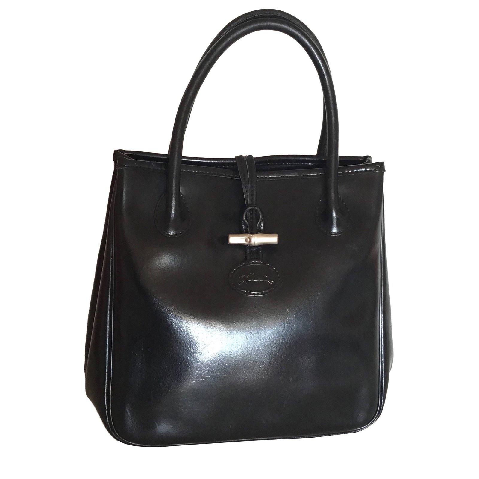 in Black Mano At Borse Nice Ref pelle W4wqwpsn7 Longchamp Closet 84689 Borsa BzRqwdq