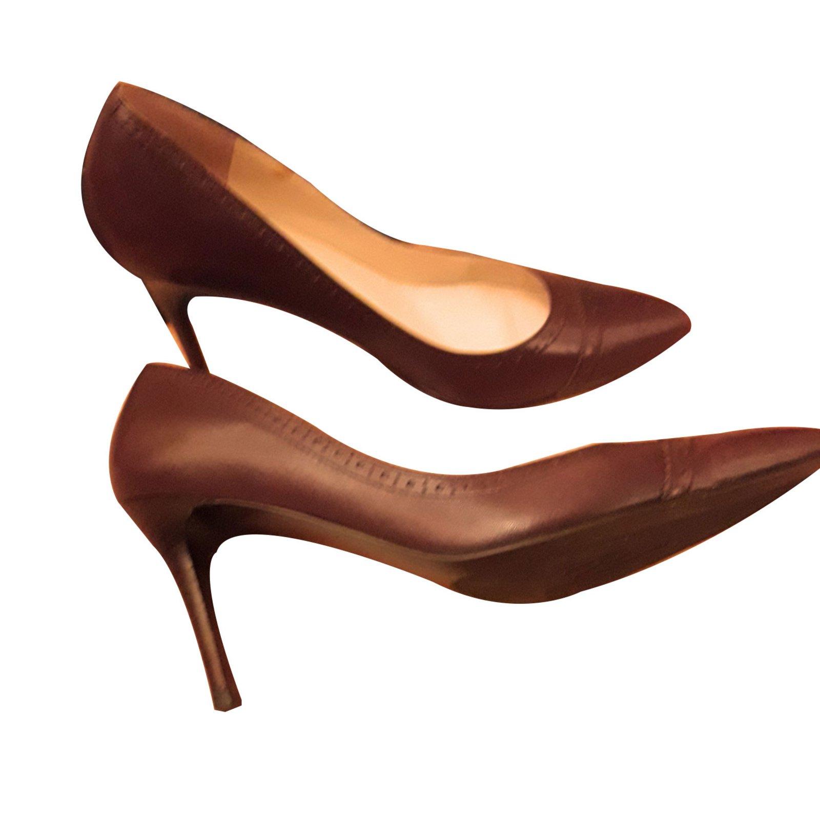 Ralph Lauren Pumps Heels Leather Dark