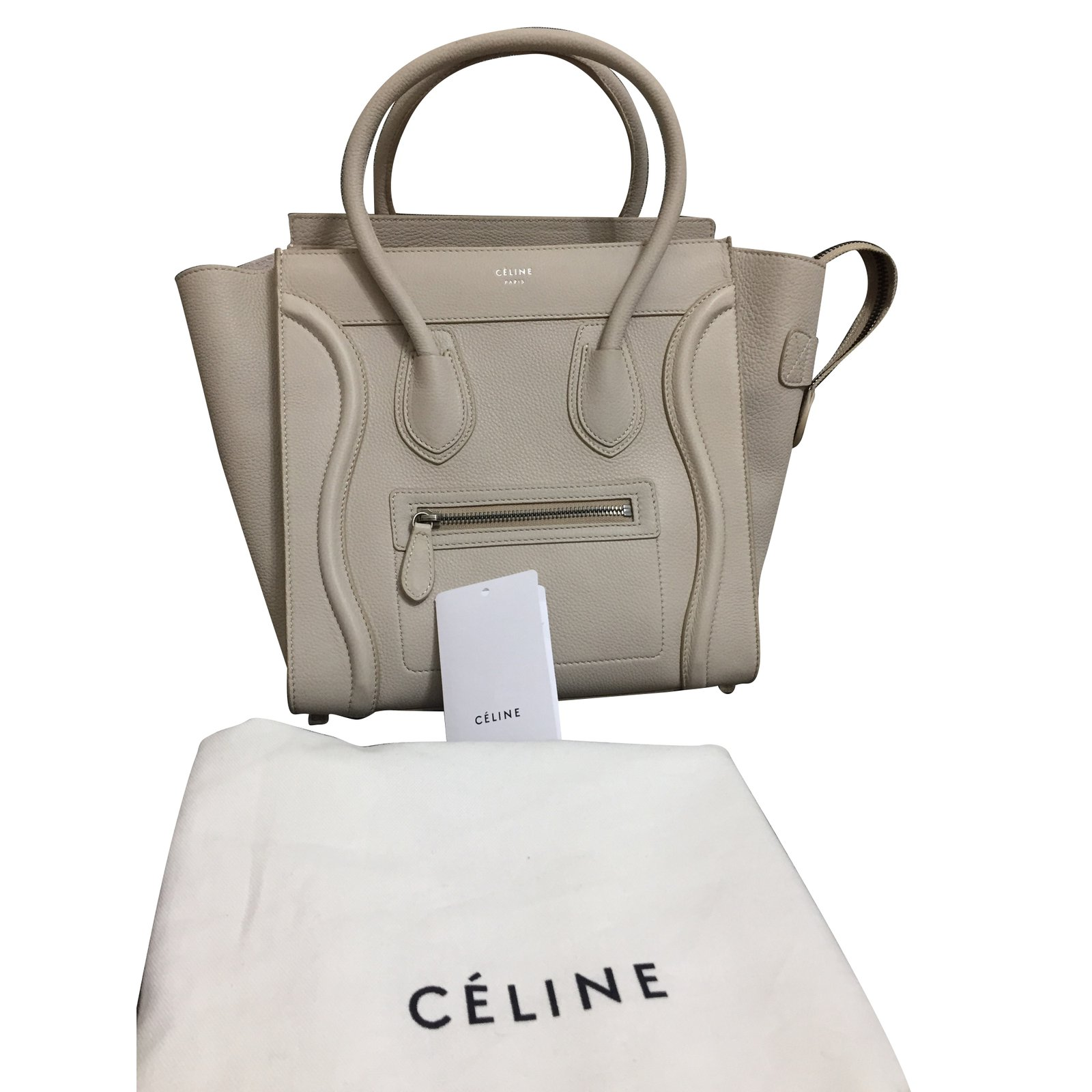 b0928c54a00e Céline Handbag Handbags Leather Beige Ref 85194 Joli Closet