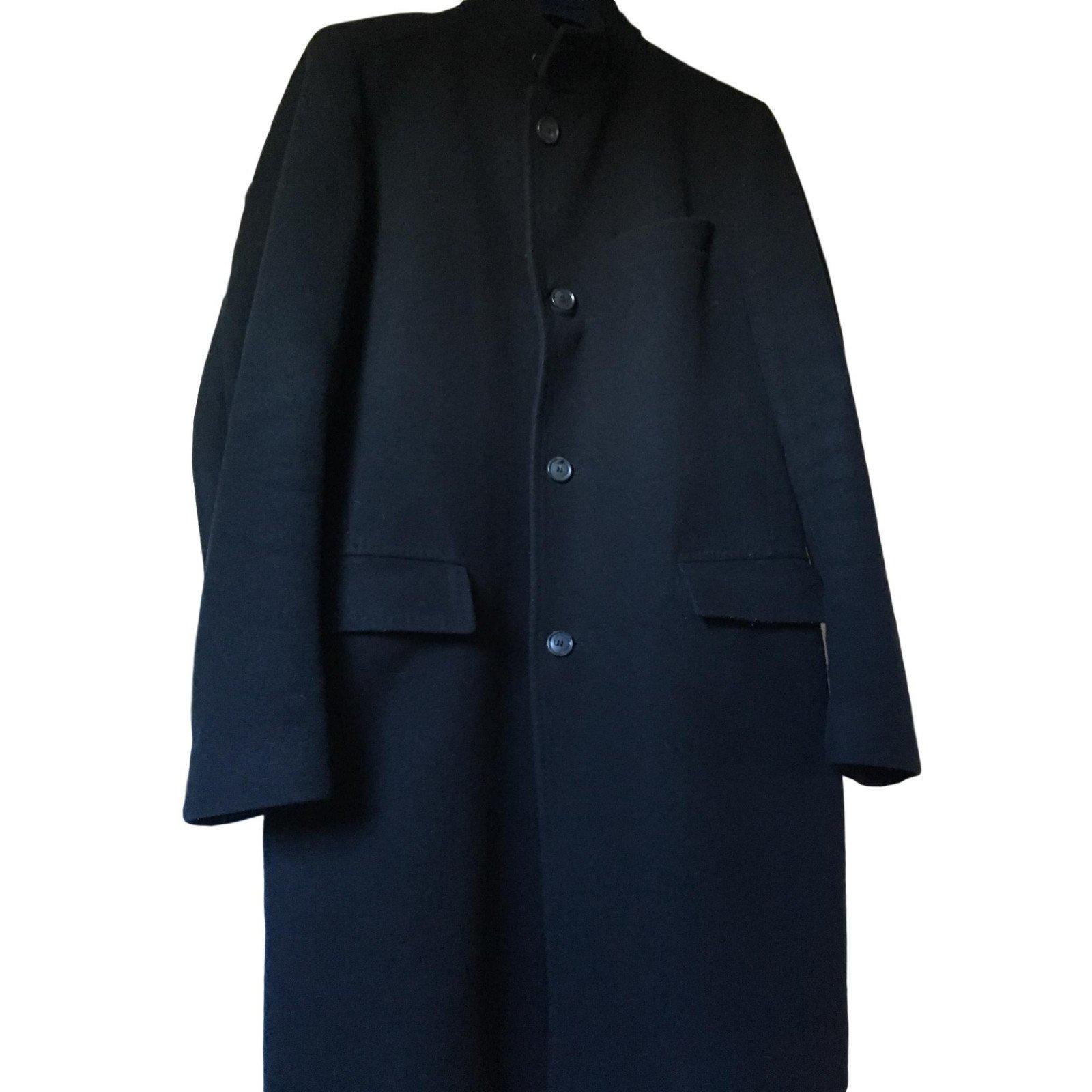 manteaux homme hugo boss automne hiver coton bleu marine. Black Bedroom Furniture Sets. Home Design Ideas