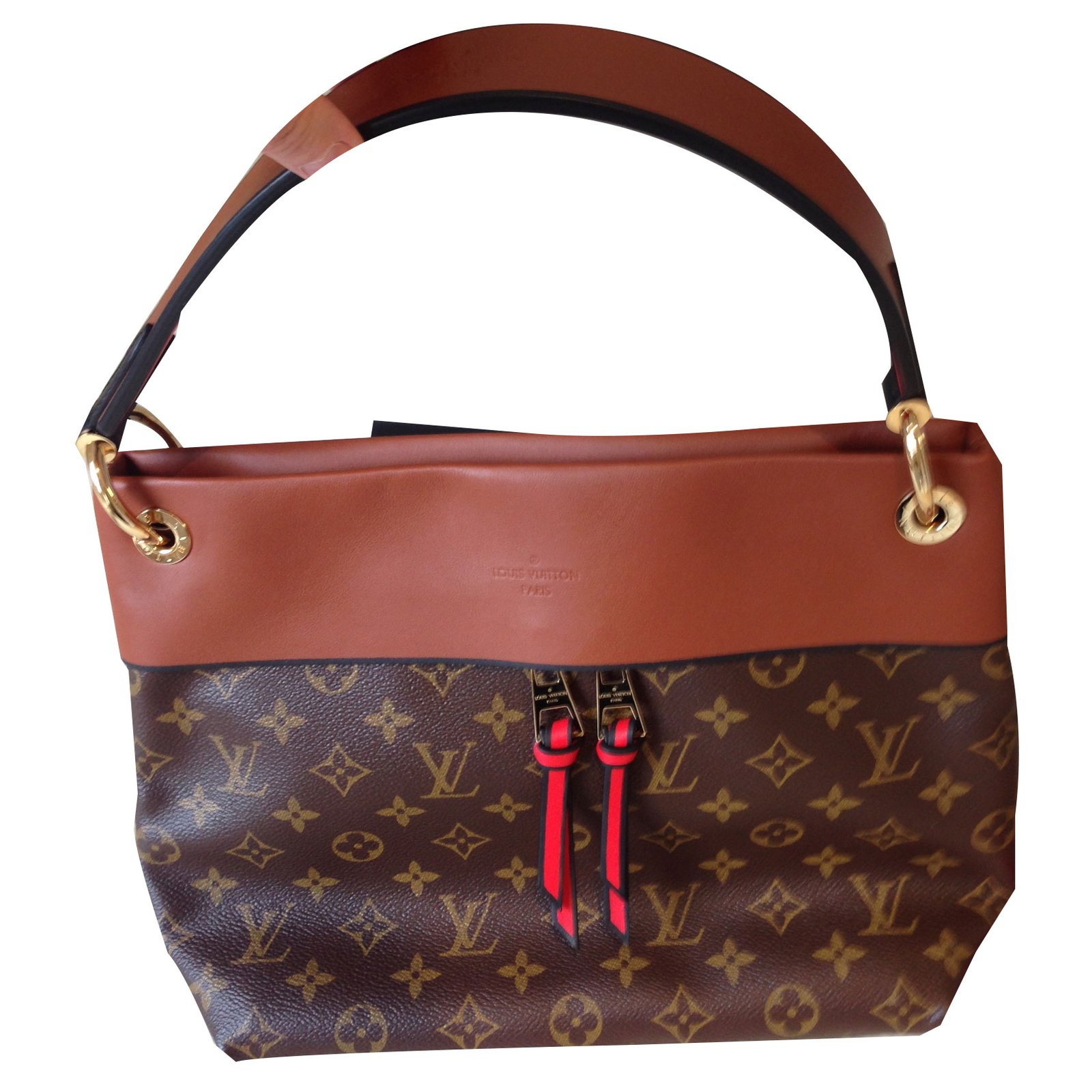 Louis Vuitton Tuileries bag Handbags Leather Caramel ref.85828 ... 4649d666c