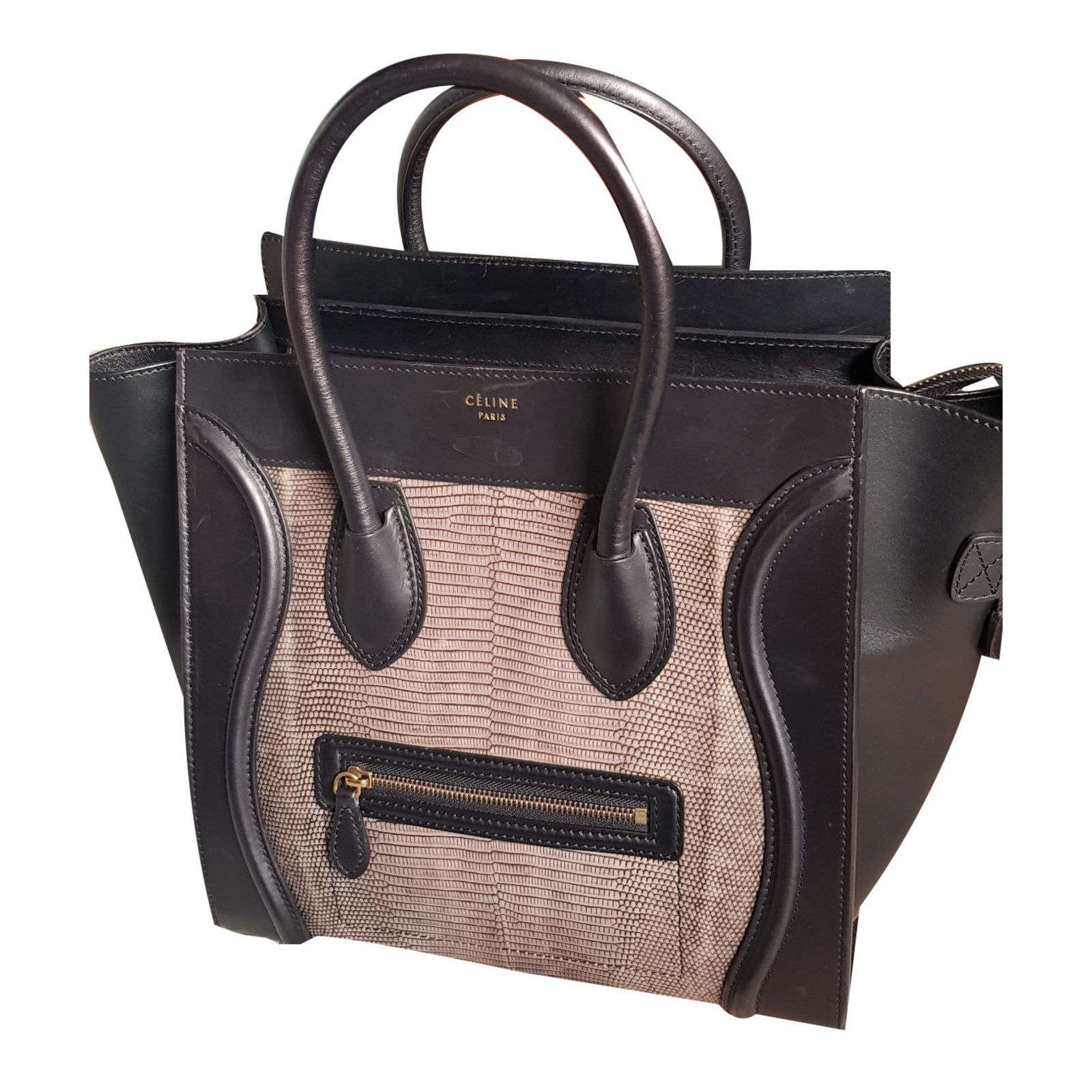 Handbags Exotic Leather Black Ref 86032