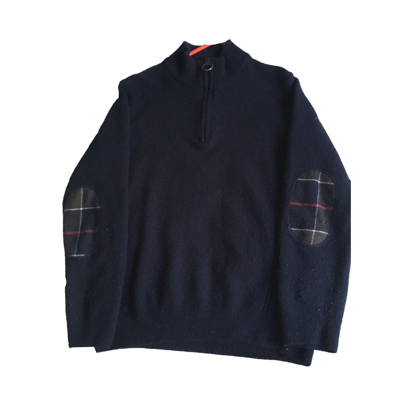 annorlunda till salu lägsta rabatt Barbour Sweater Sweaters Wool Navy blue ref.86042 - Joli Closet