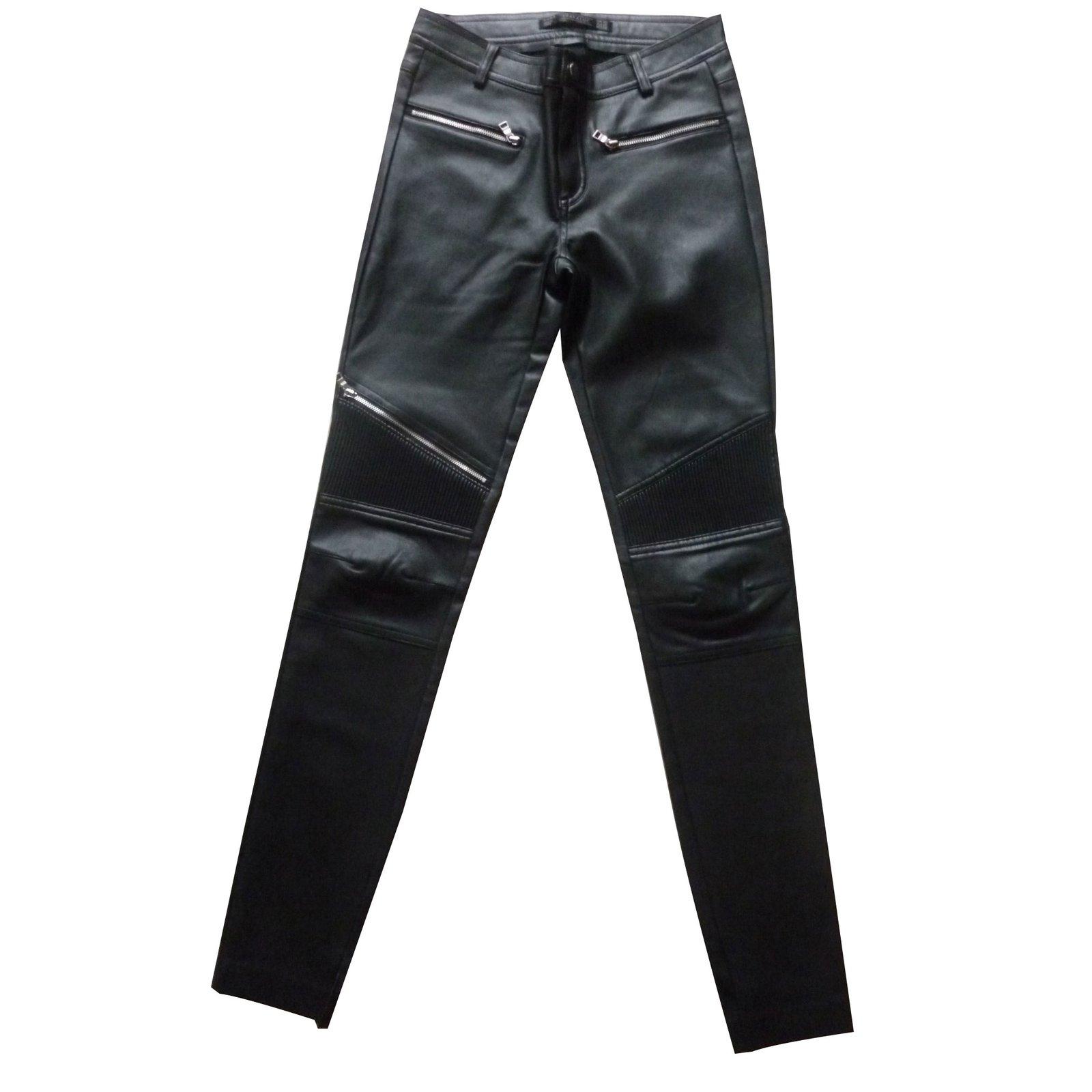 pantalon homme simili cuir zara
