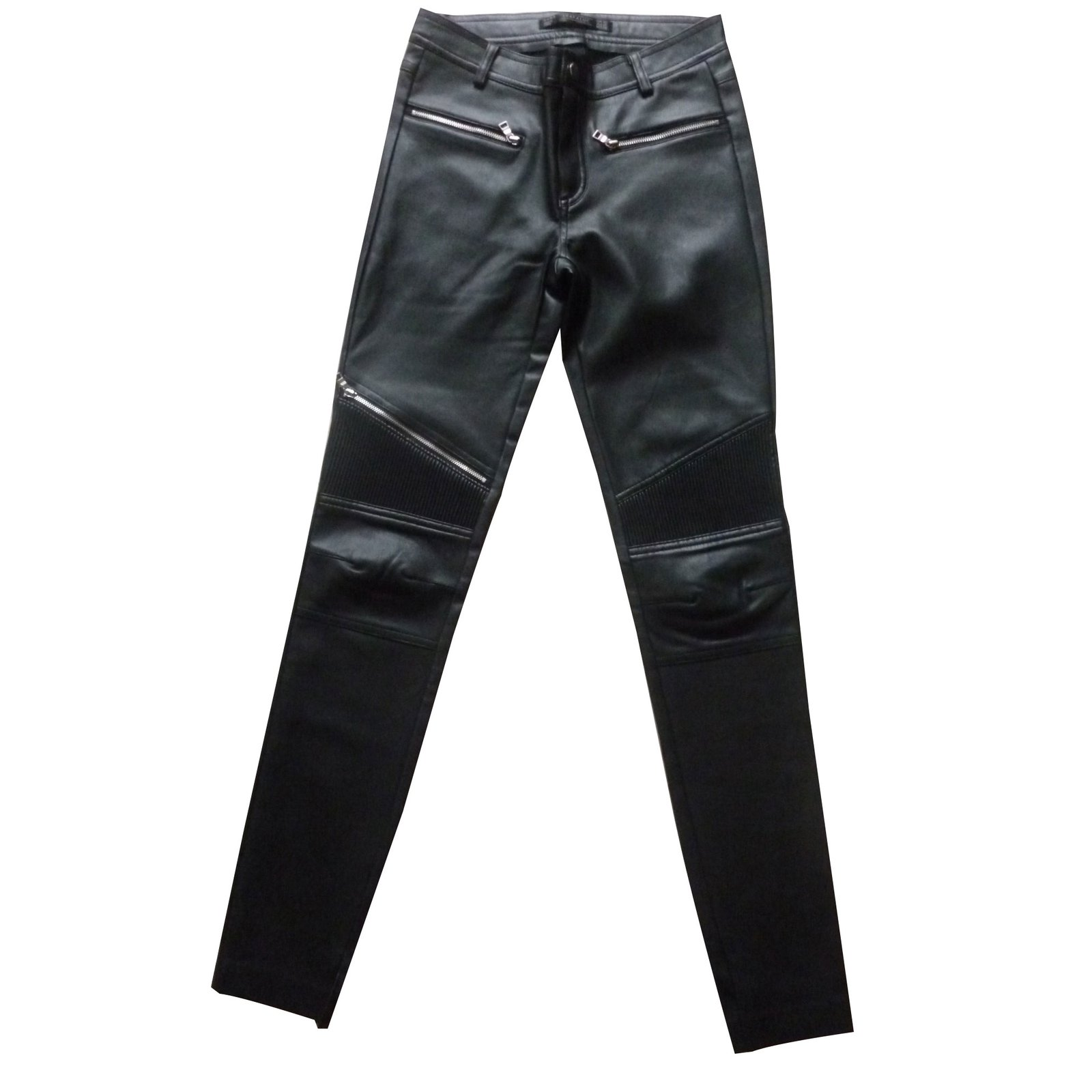 c74946e5 Faux leather biker pants