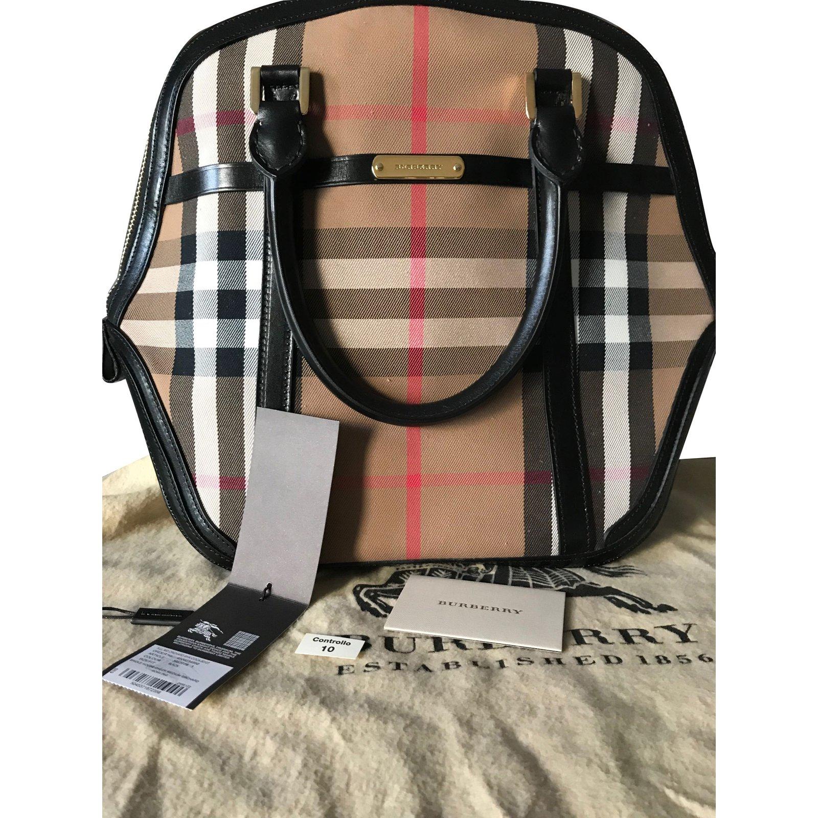 d9b03aba7f0 Burberry Medium Orchard Bag Handbags Leather,Other Black,Beige ref.86281