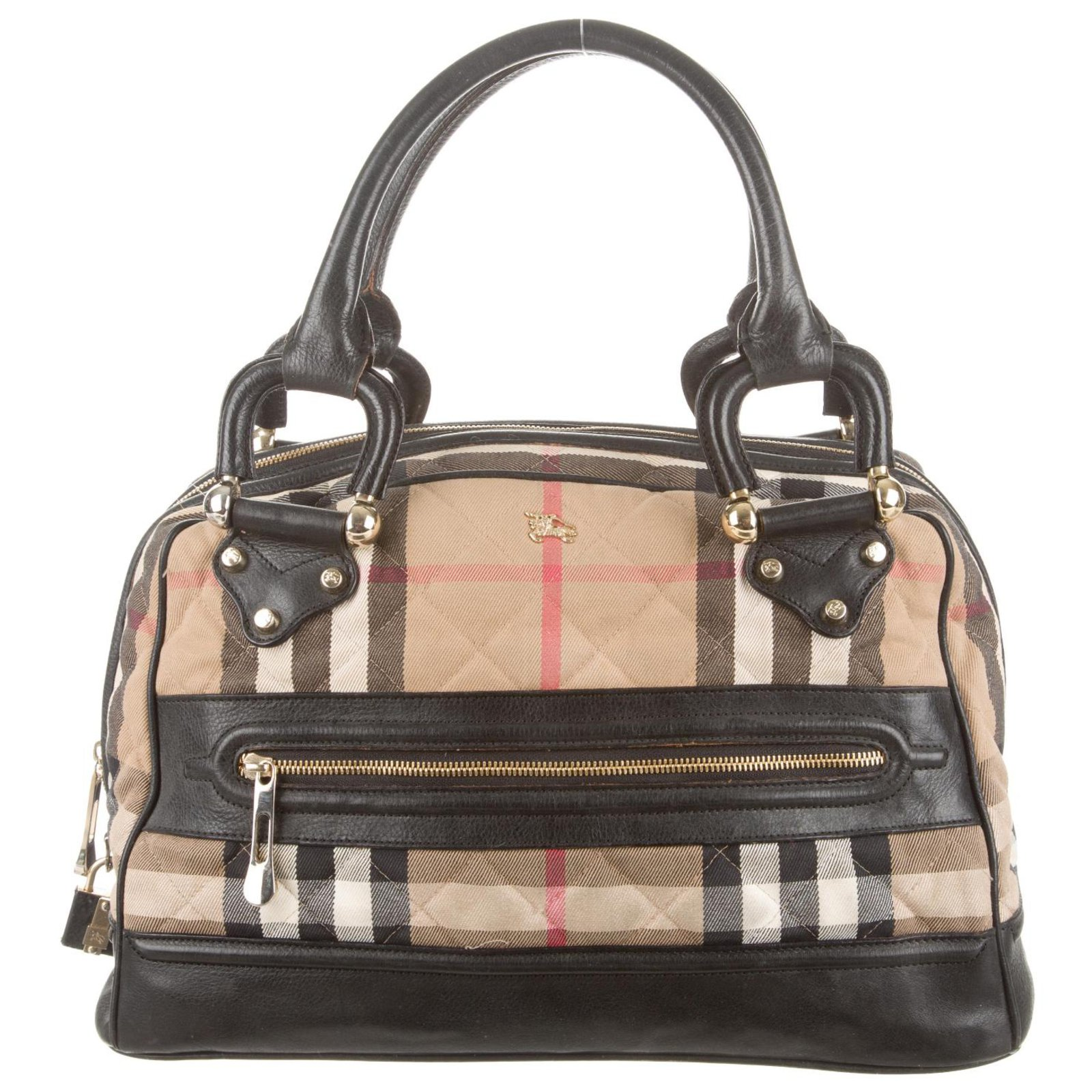 1b796901de2a Burberry Bowling Bag Handbags Leather Other Brown Beige Ref 86285