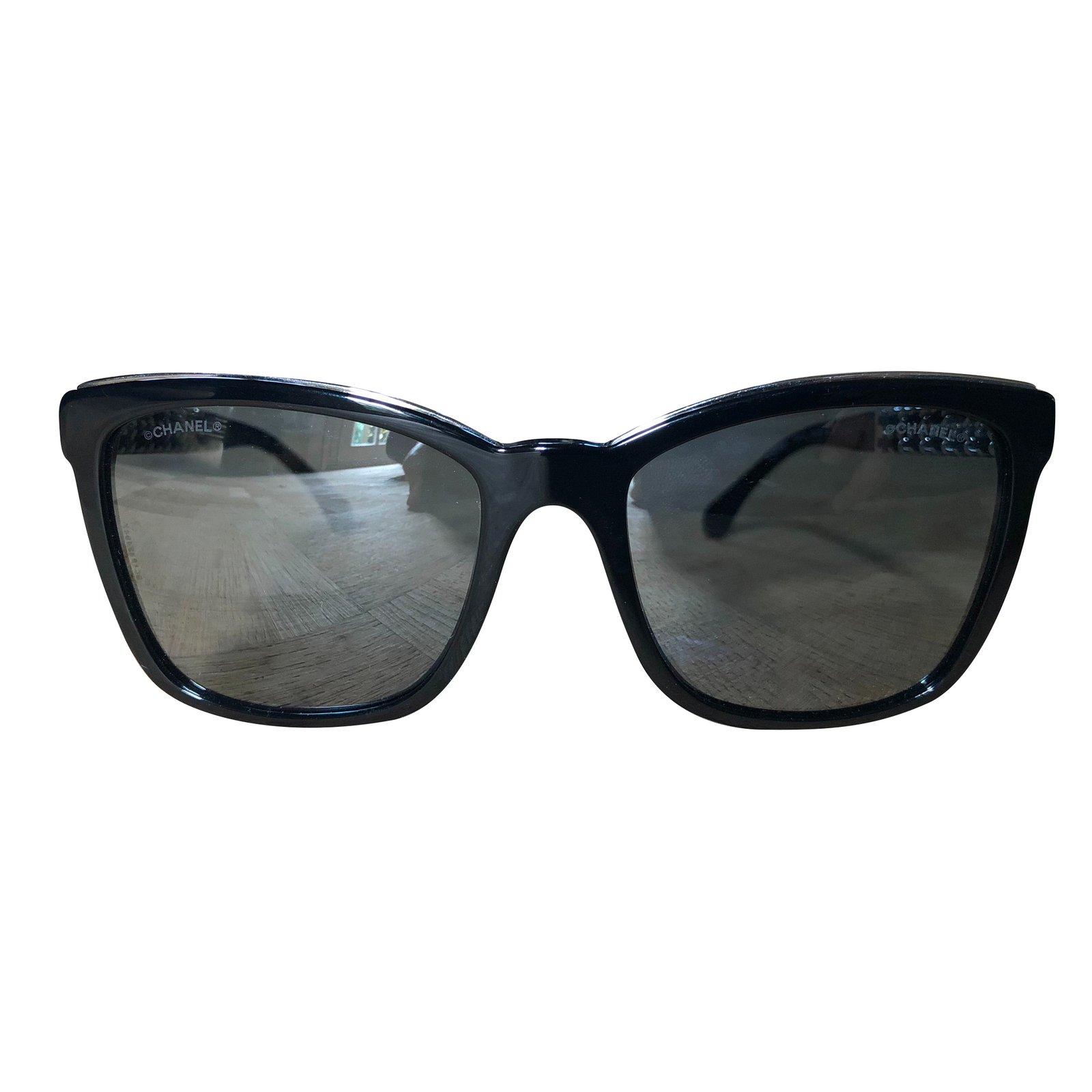 Lunettes Chanel Lunettes de soleil Autre Noir ref.86606 - Joli Closet 5bca3fdfe226