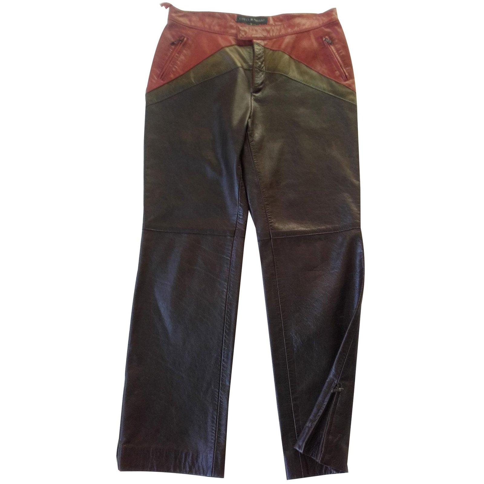Pantalons Marant Joli Marron Cuir 86717 Isabel Pantalon Etoile Ref v80mnwN