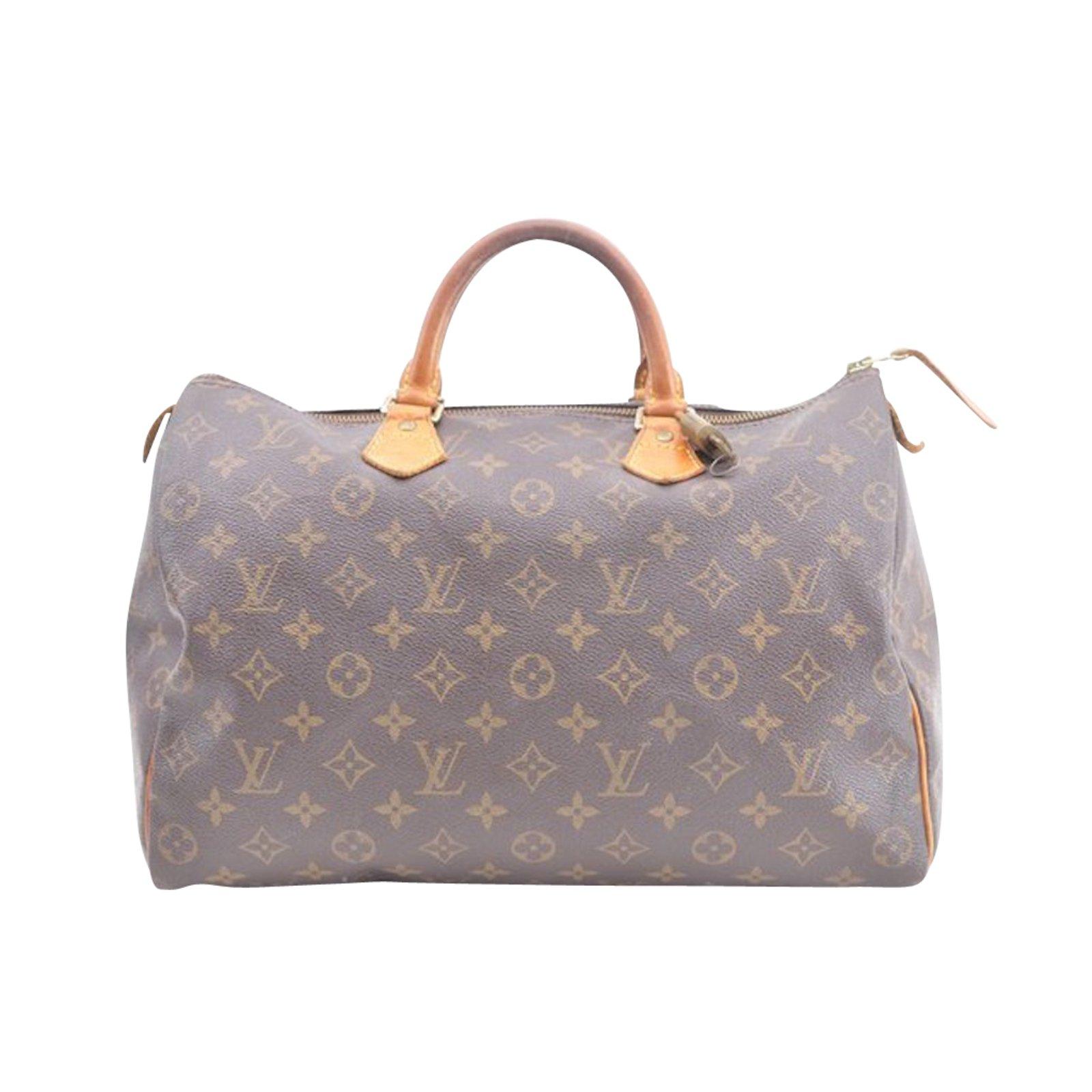 9c578b1dafb7 Sacs à main Louis Vuitton Louis Vuitton Speedy 35 monogramme Toile Marron  ref.86778