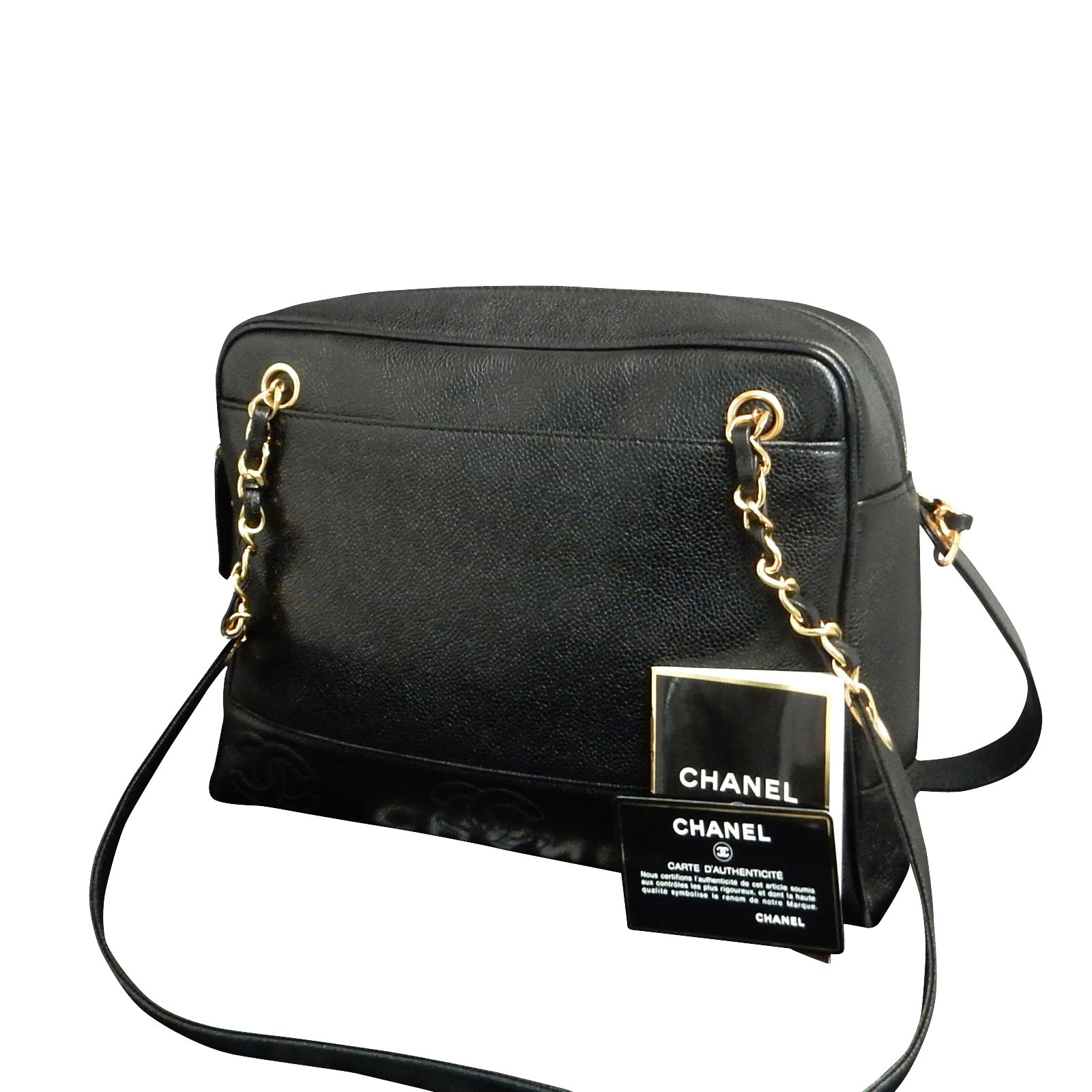 bc5ea79a55ff Chanel Triple Cc Black Caviar Handbags Other Ref 86855 Joli. Photo. Chanel  Black Caviar Leather Quilted Tote Bag ...