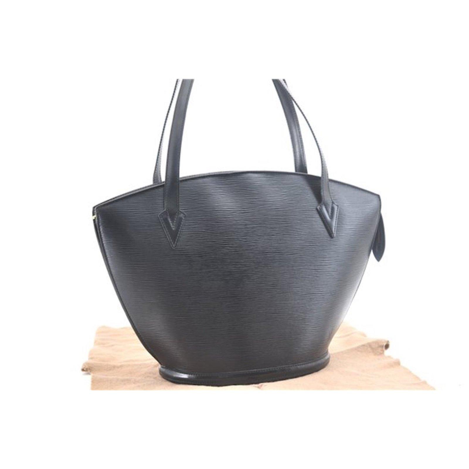 9f355a127131 Louis Vuitton Louis Vuitton Saint Jacques GM black Handbags Leather Black  ref.86942
