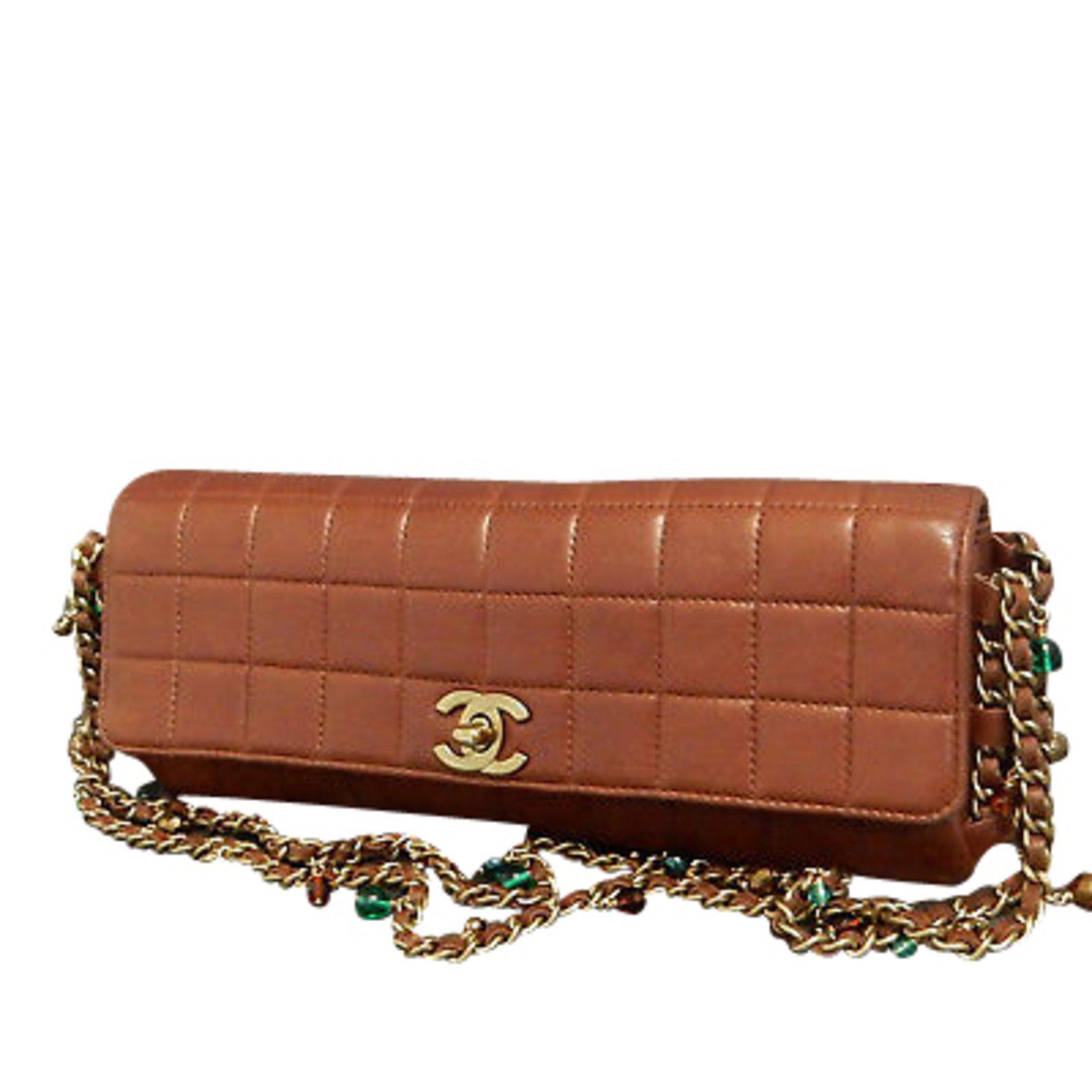 39c99d97fcb2 Sacs à main Chanel Barre de chocolat Veau façon poulain Marron ref.86957