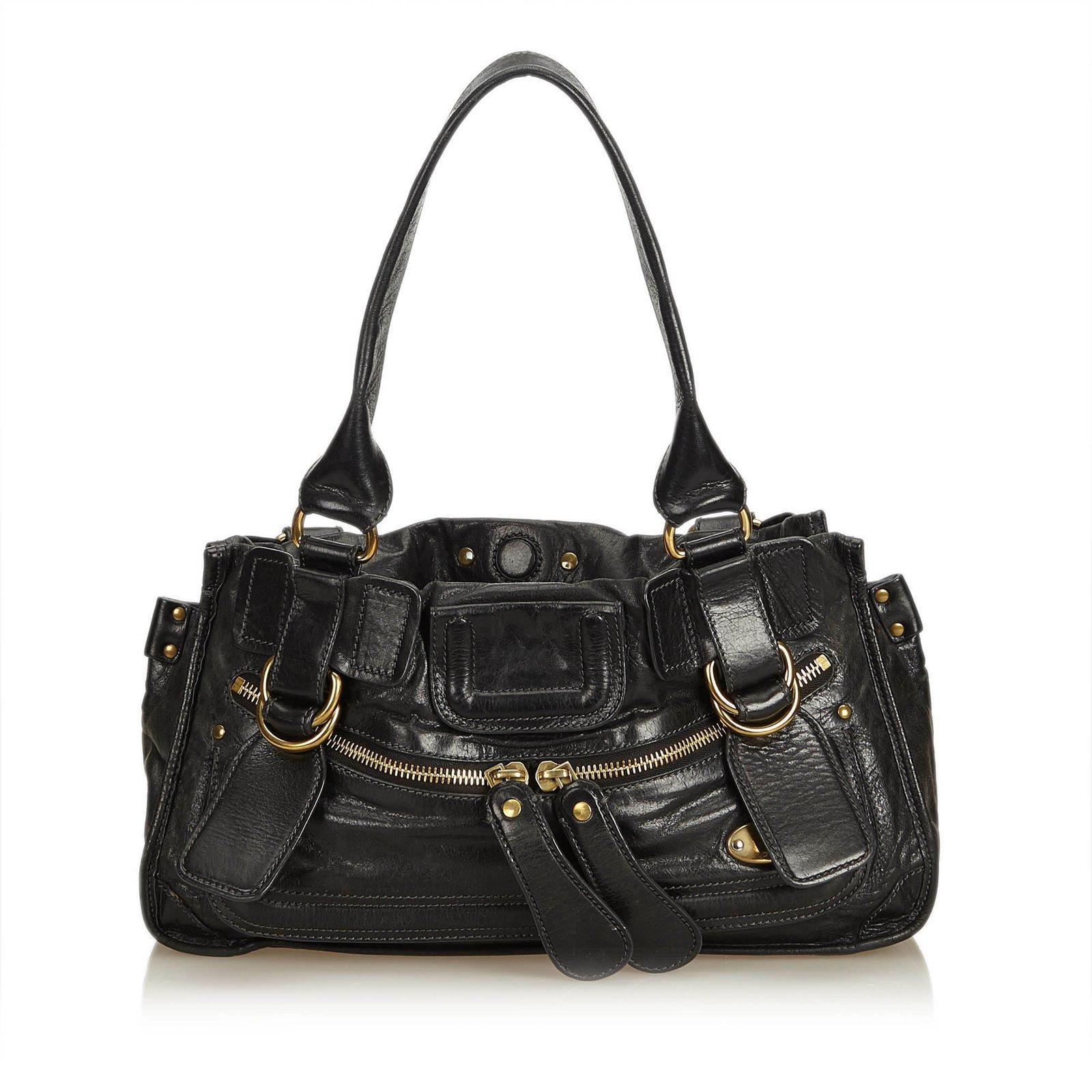 Chloé Leather Bay Shoulder Bag Handbags Other Black Ref 87153