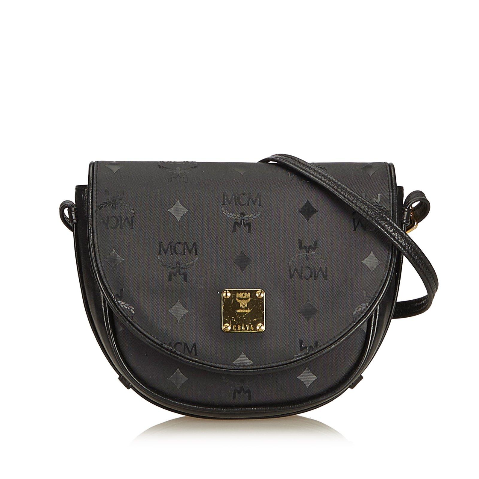 MCM Visetos Canvas Crossbody Bag Handbags Leather 394b61ef5