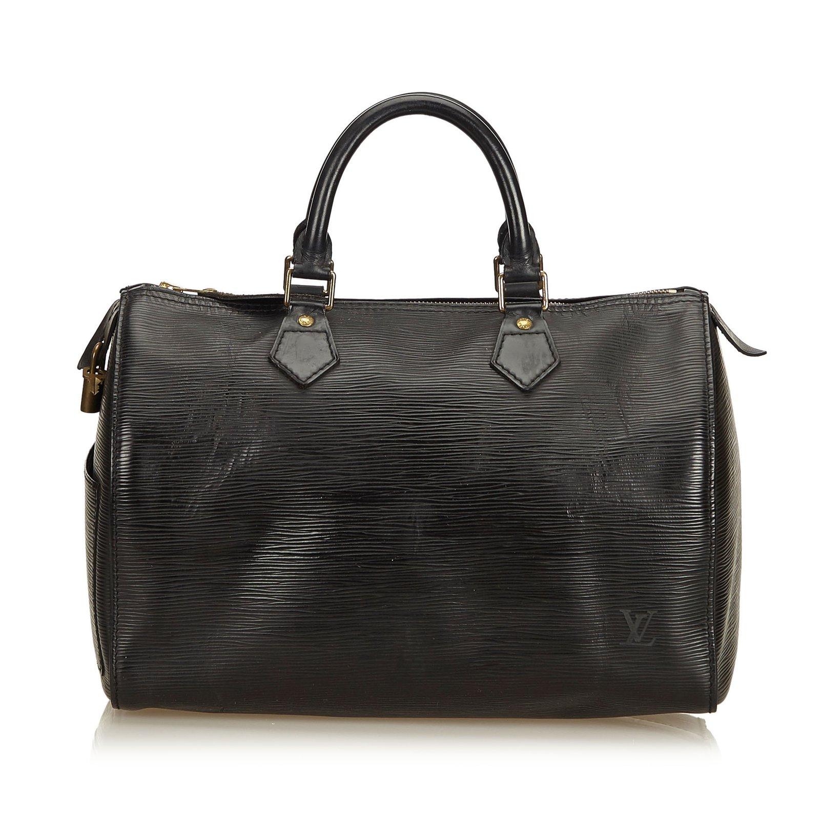 08dab39992e4 Louis Vuitton Epi Speedy 30 Handbags Leather Black ref.87187 - Joli ...