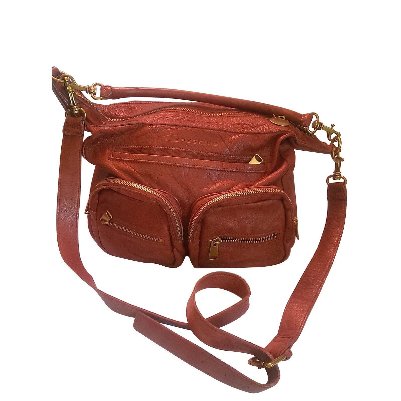 Liebeskind Berlin Handbags Leather Dark Red Ref 87243