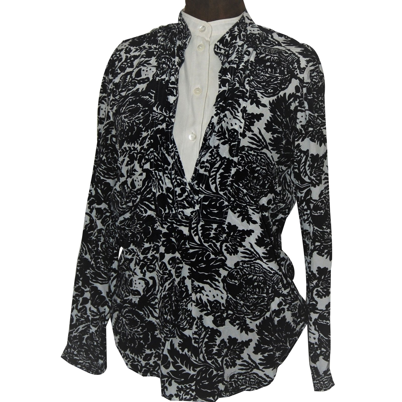 1175cb531 Gucci Tops Tops Silk Black,Eggshell ref.87433 - Joli Closet