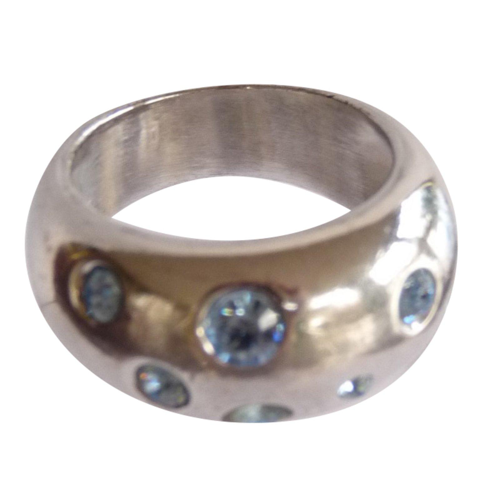 fa33e3a1d267 Yves Saint Laurent rings Rings Silver Silvery ref.87464 - Joli Closet