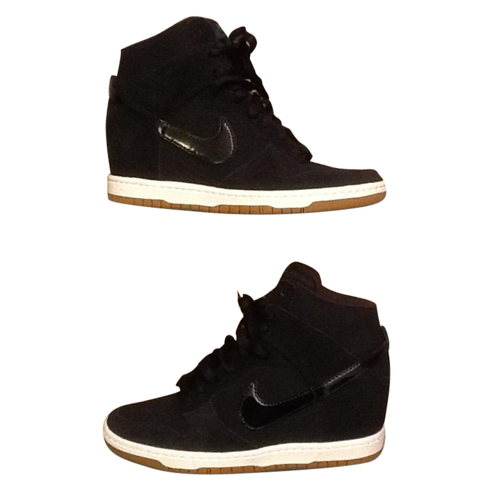 newest 26444 39412 Nike Dunk sky Sneakers Leather Black ref.87607
