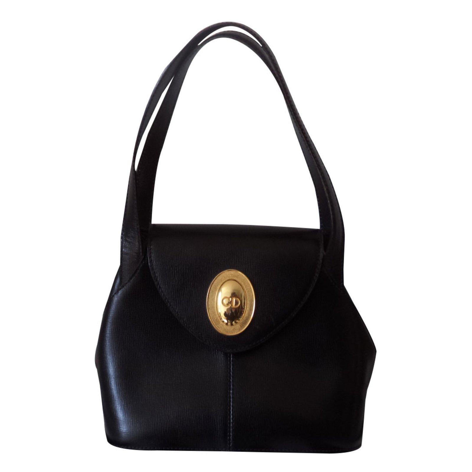 Sacs à main Christian Dior Sac à main cuir Cuir Noir ref.87724 ... 5bf797fc376