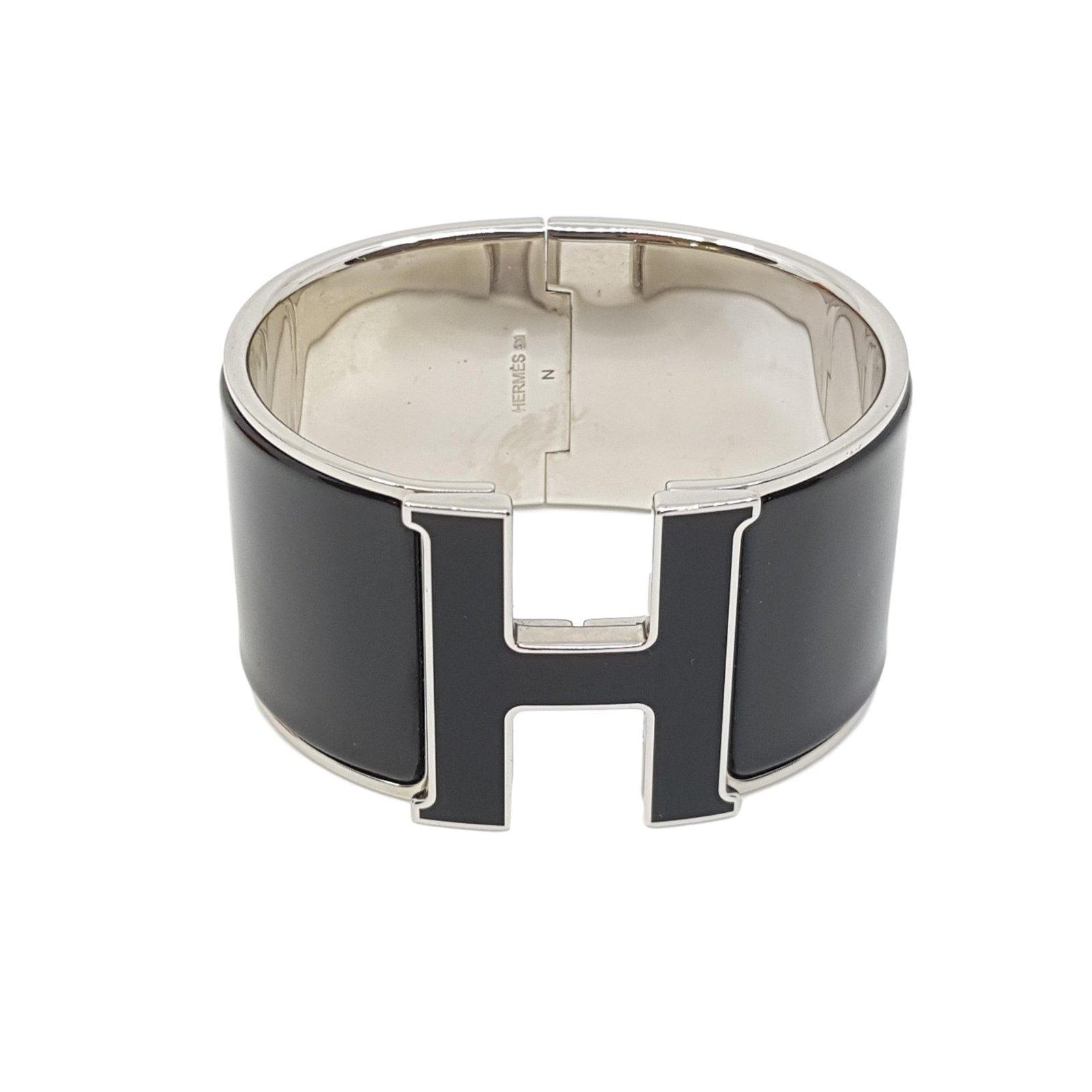 f87b1556db88 Bracelets Hermès Bracelet Clic H Autre Noir,Argenté ref.87934 - Joli ...