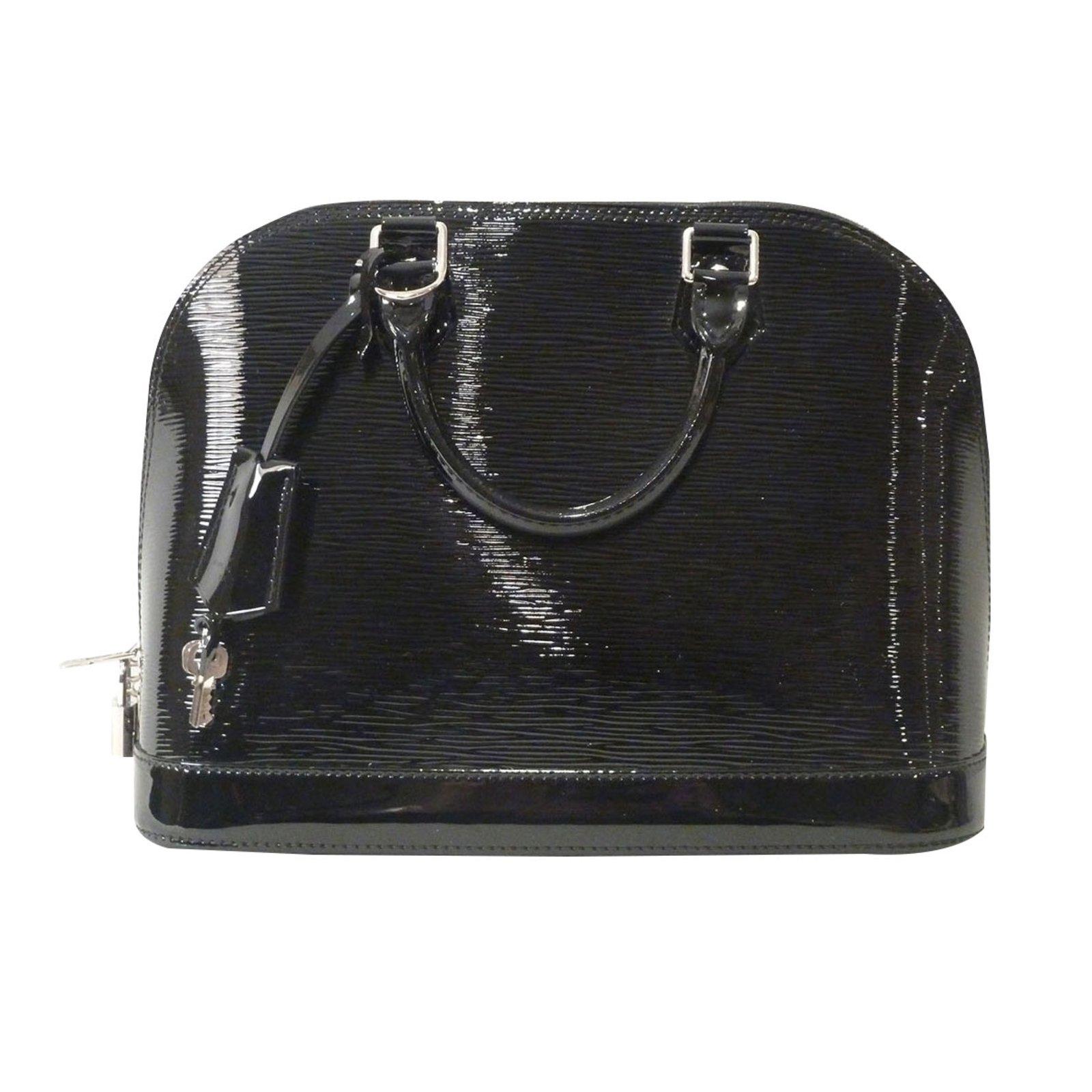 Louis Vuitton Alma PM Tote Bag Totes Patent leather Black ref.87989 ... dabe772428d1e