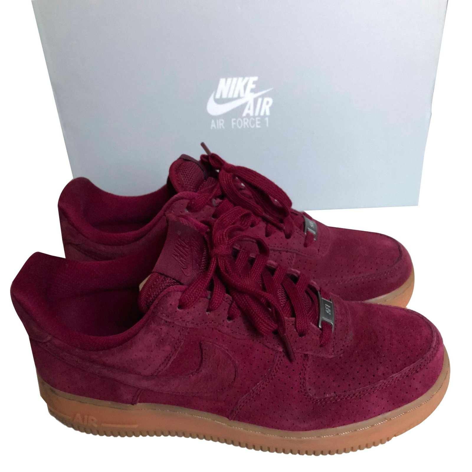 air force 1 noir en daim