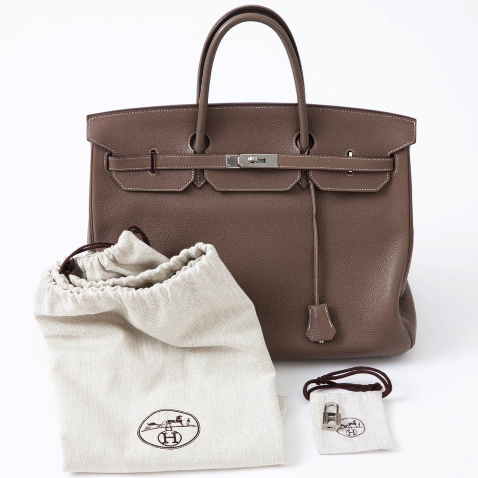 0f370c4f816 Hermès Spacious Hermes Birkin 40 in Togo taupe in very good condition!  Handbags Leather Grey