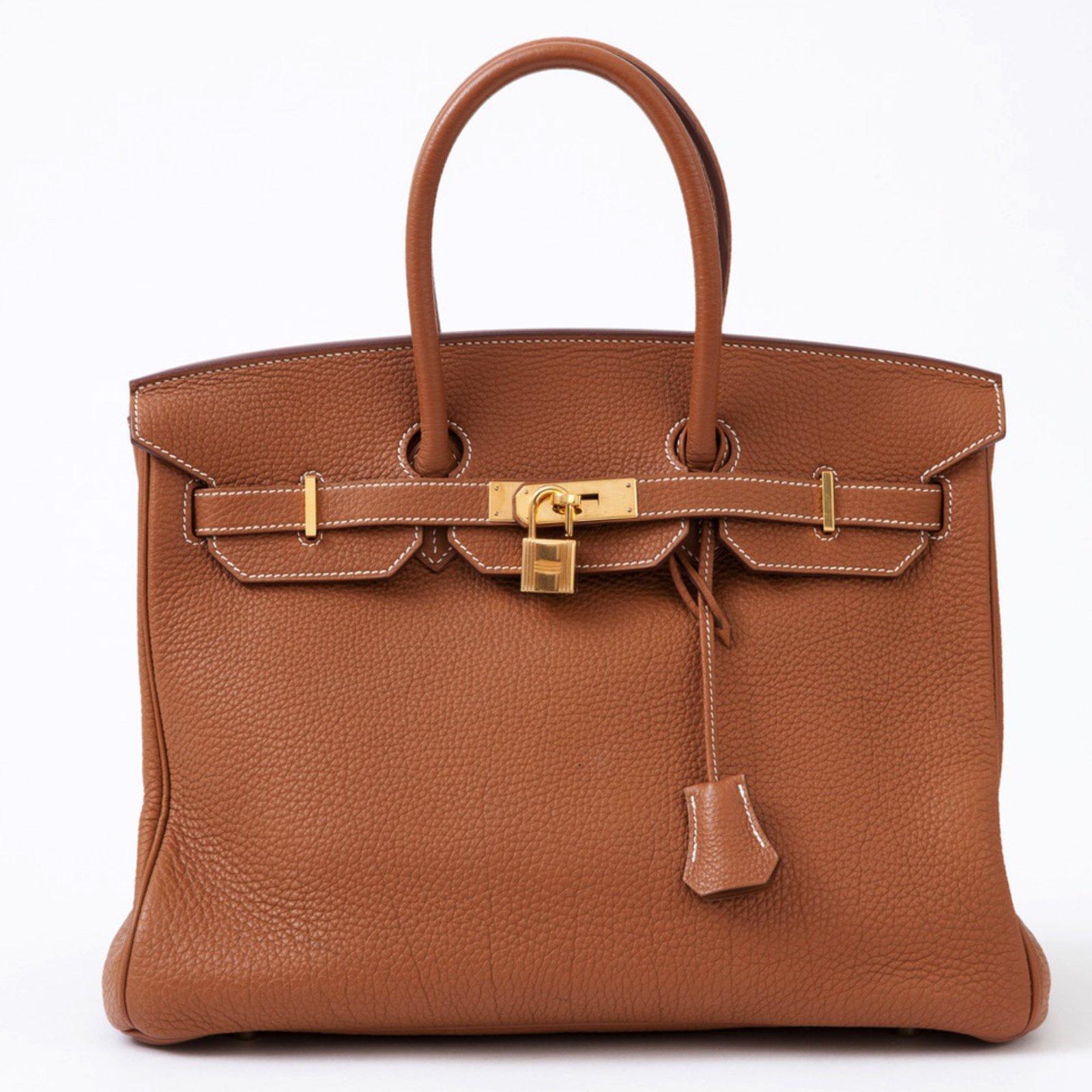 Hermès Splendid Birkin 35 Bag In Togo Gold Leather Very Good Condition Handbags