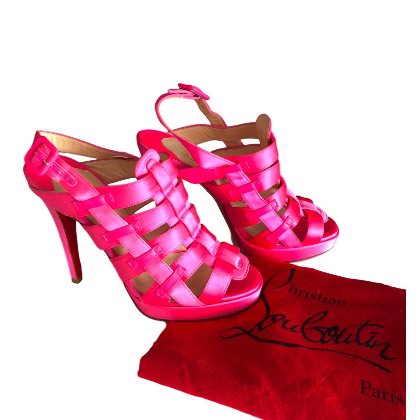 christian louboutin pink sandals