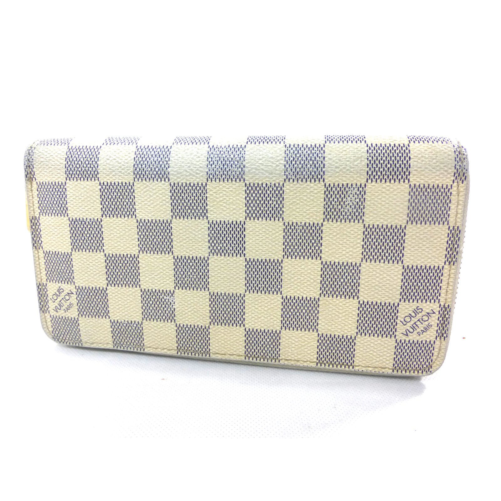 Petite maroquinerie Louis Vuitton Portefeuille zippy damier azur Cuir  Beige,Blanc cassé ref.88779 c701dd460d6c