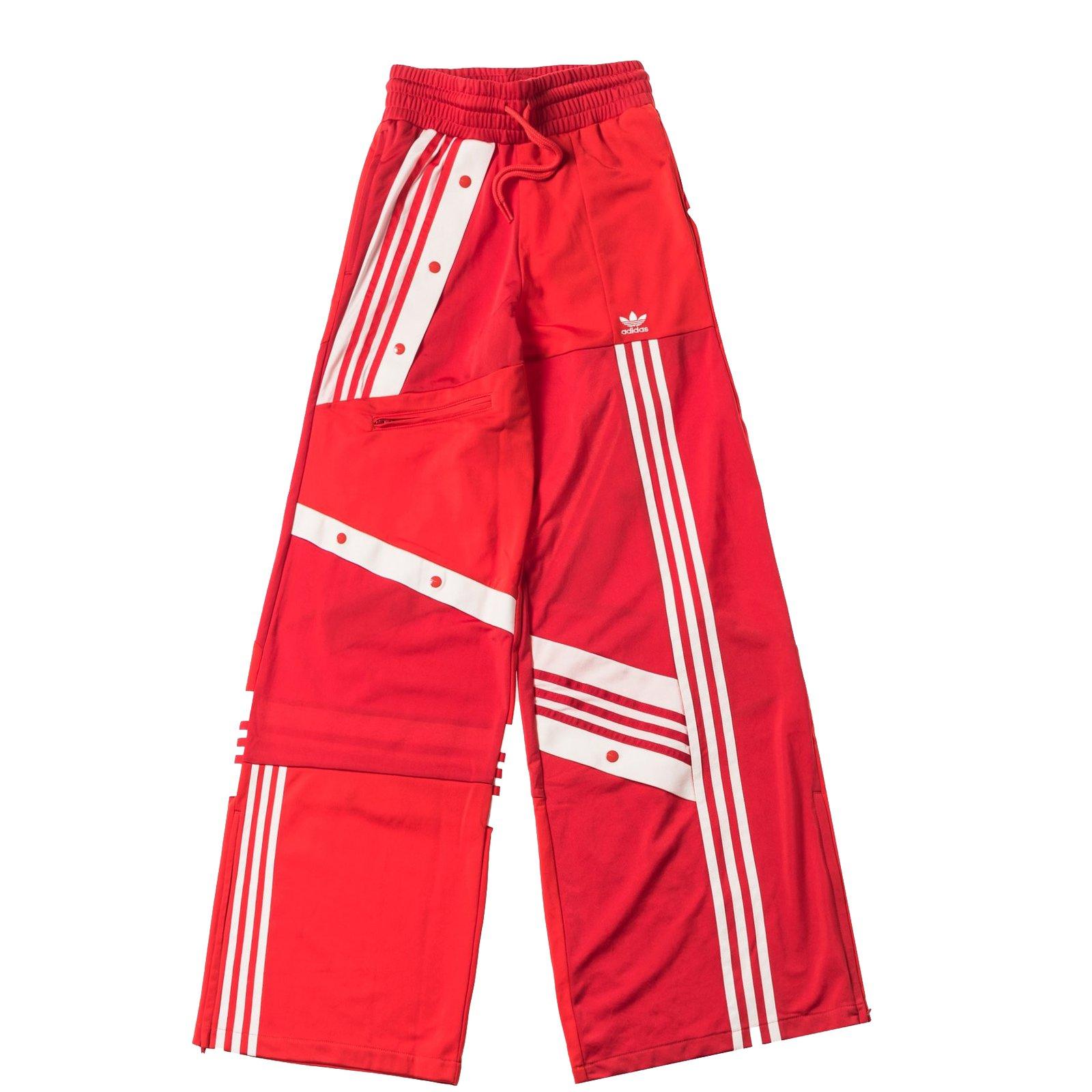 pantalon adidas rouge